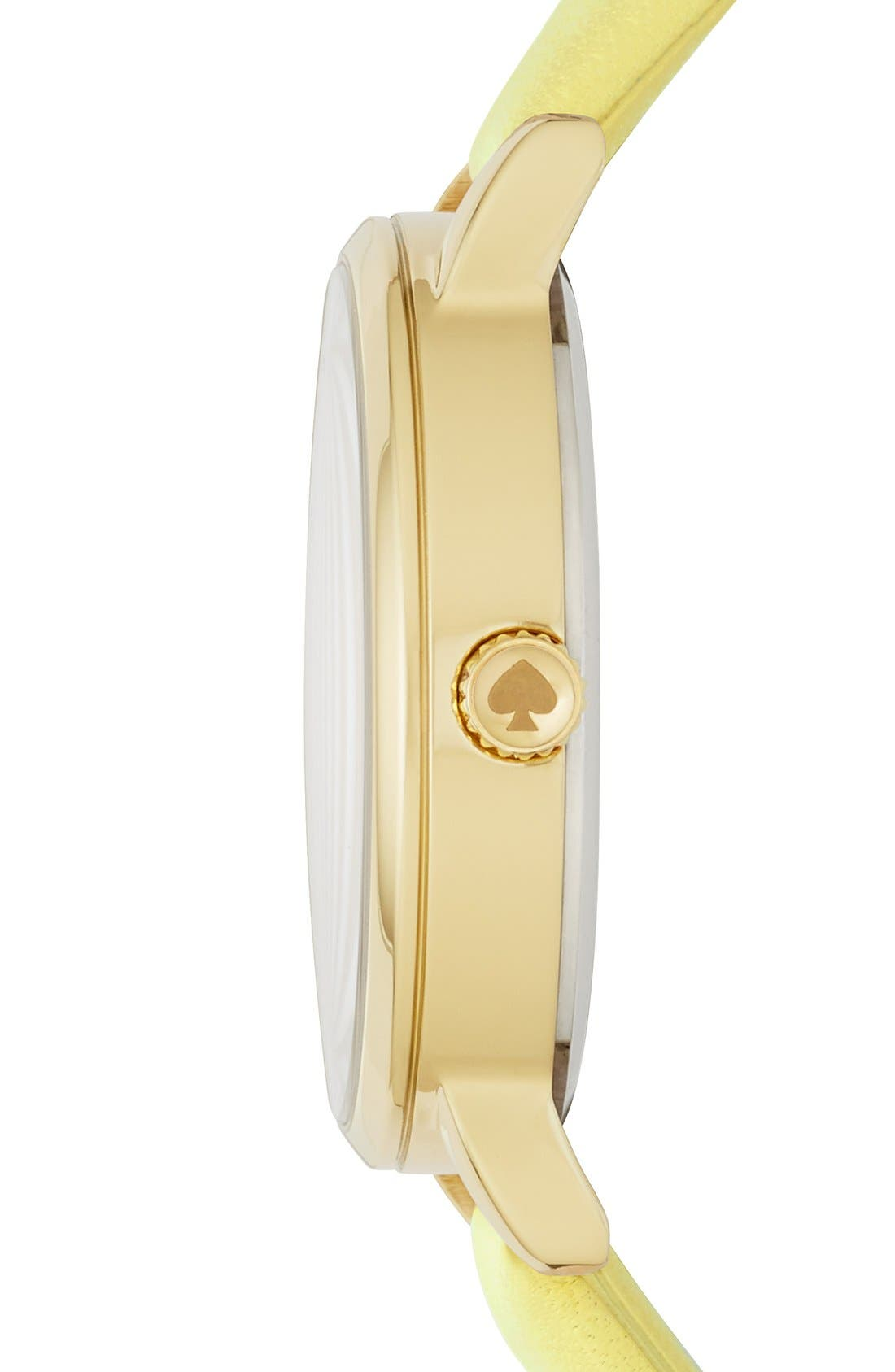 Alternate Image 2  - kate spade new york 'metro - sunshine' leather strap watch, 34mm