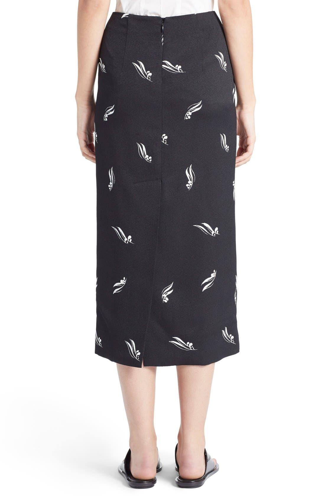 Alternate Image 2  - Marni Olive Leaf Print Crepe Pencil Skirt