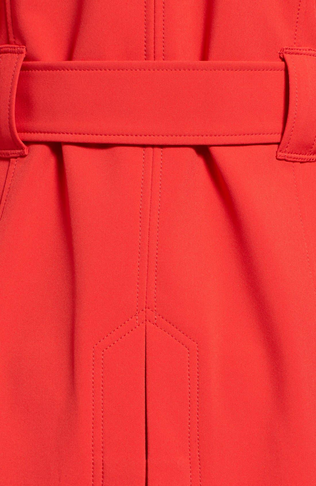 Alternate Image 5  - MICHAEL Michael Kors Asymmetrical Zip Belted Soft Shell Coat