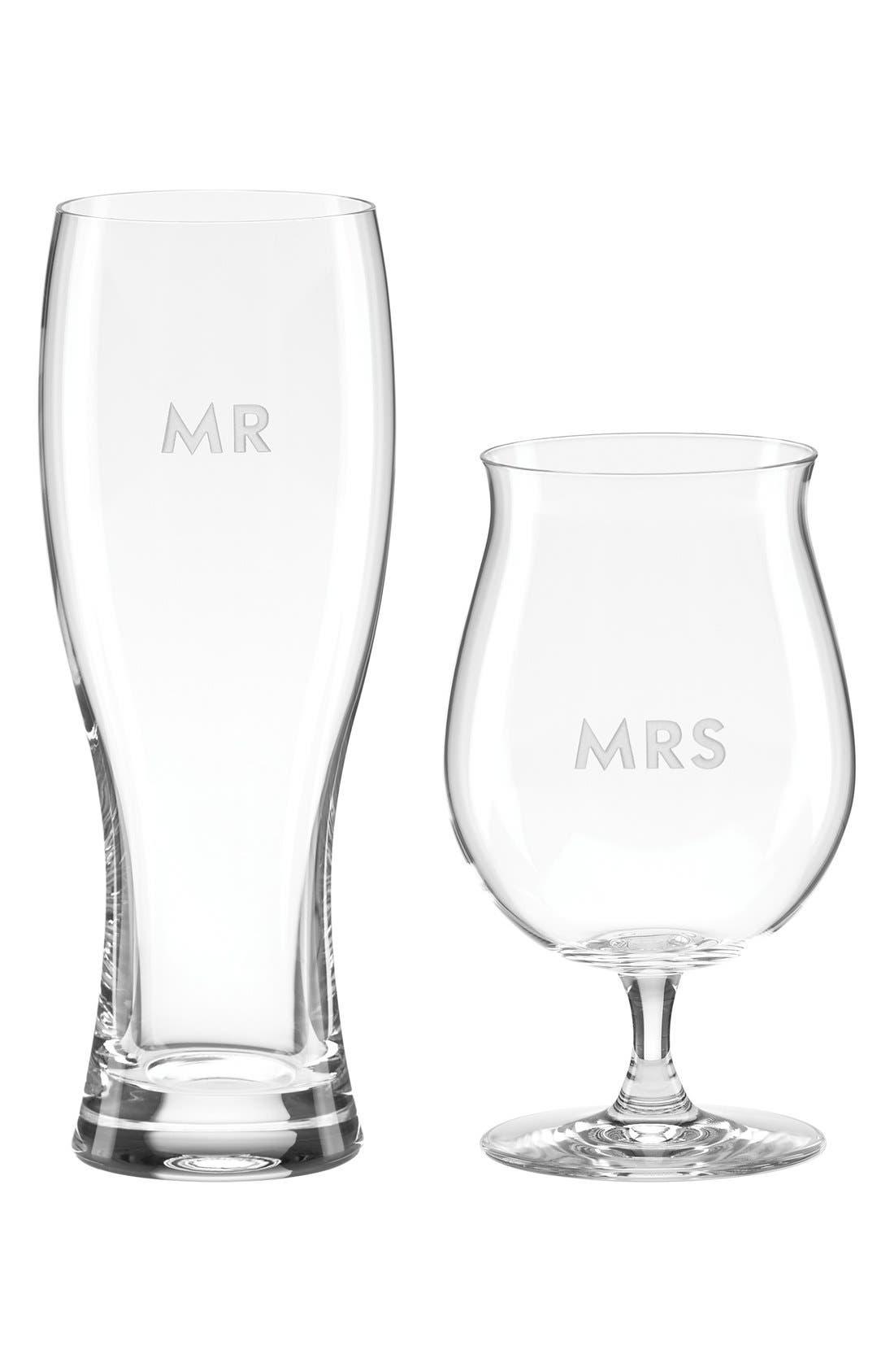 kate spade new york 'darling point mr. & mrs.' beer glasses (Set of 2)