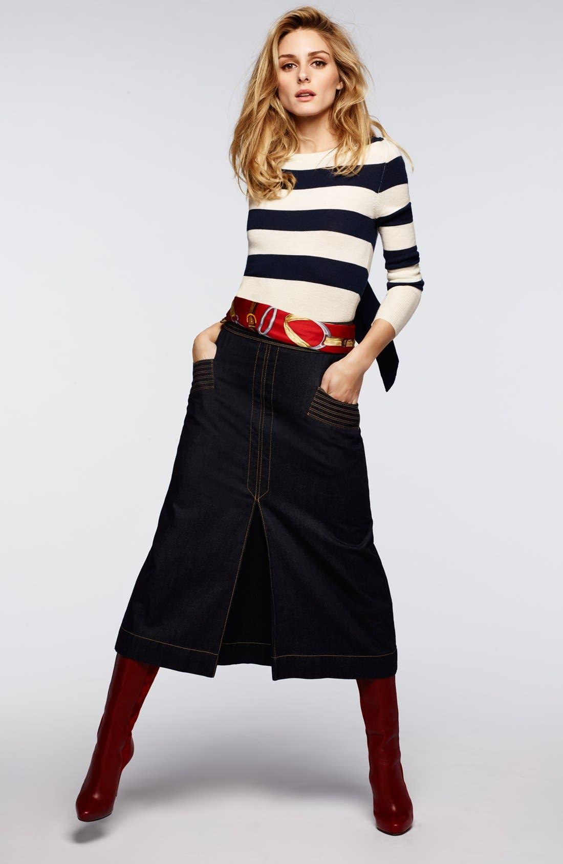 Alternate Image 5  - Olivia Palermo + Chelsea28 Stripe Wool & Cashmere Pullover