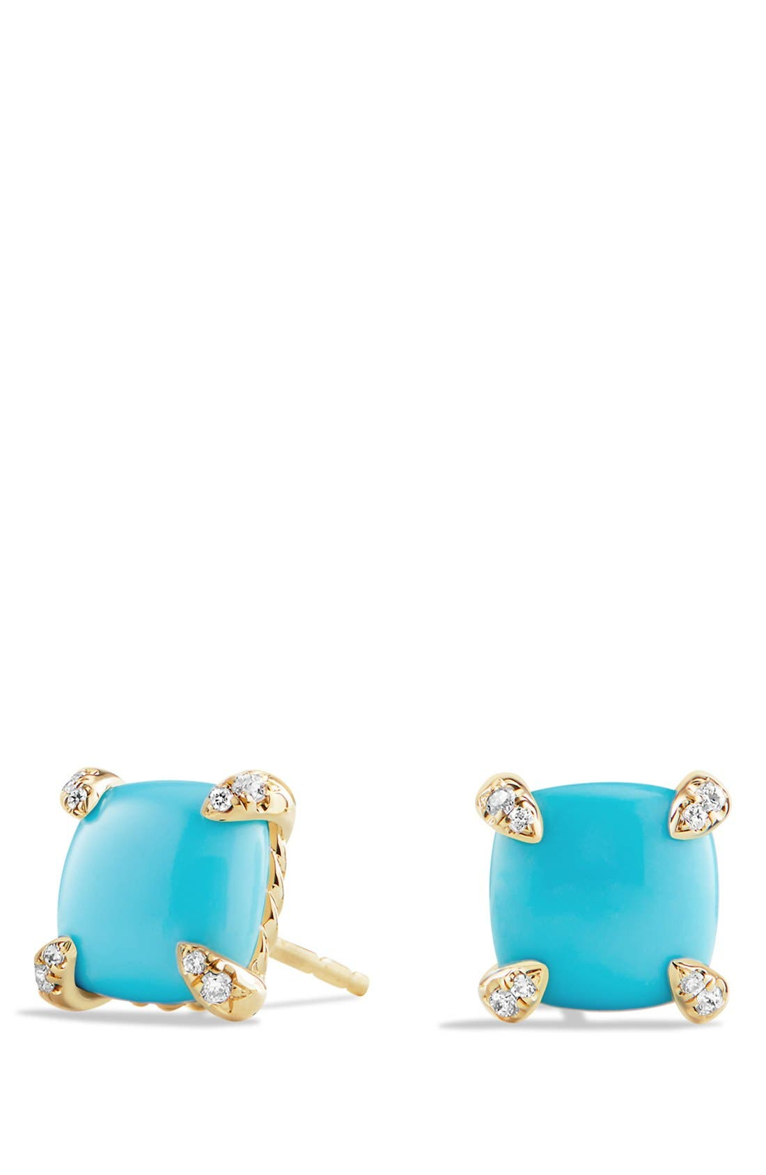 DAVID YURMAN 'Châtelaine' Earrings with Semiprecious Stones in