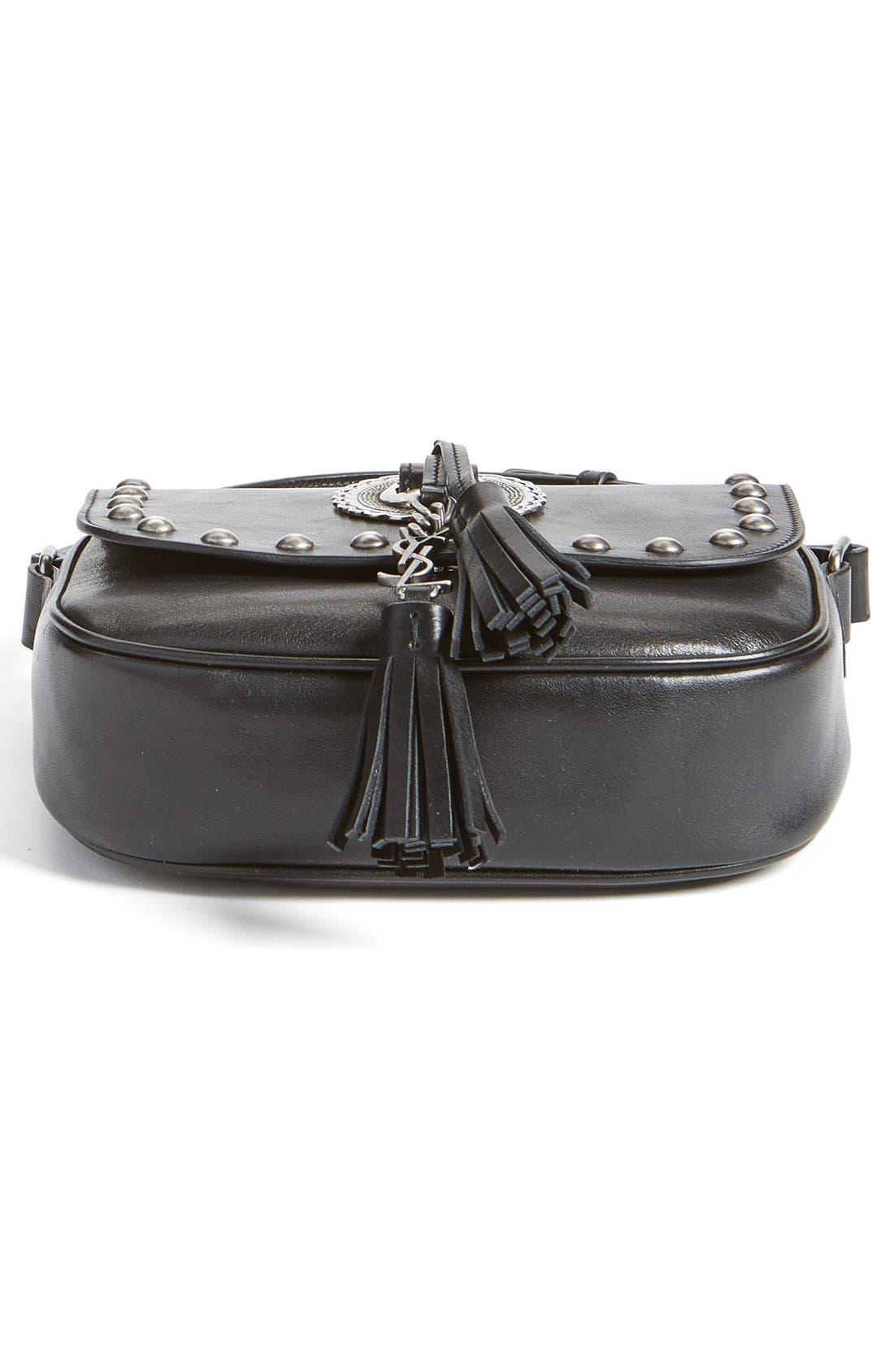 Alternate Image 6  - Saint Laurent 'Small Kim' Calfskin Crossbody Bag