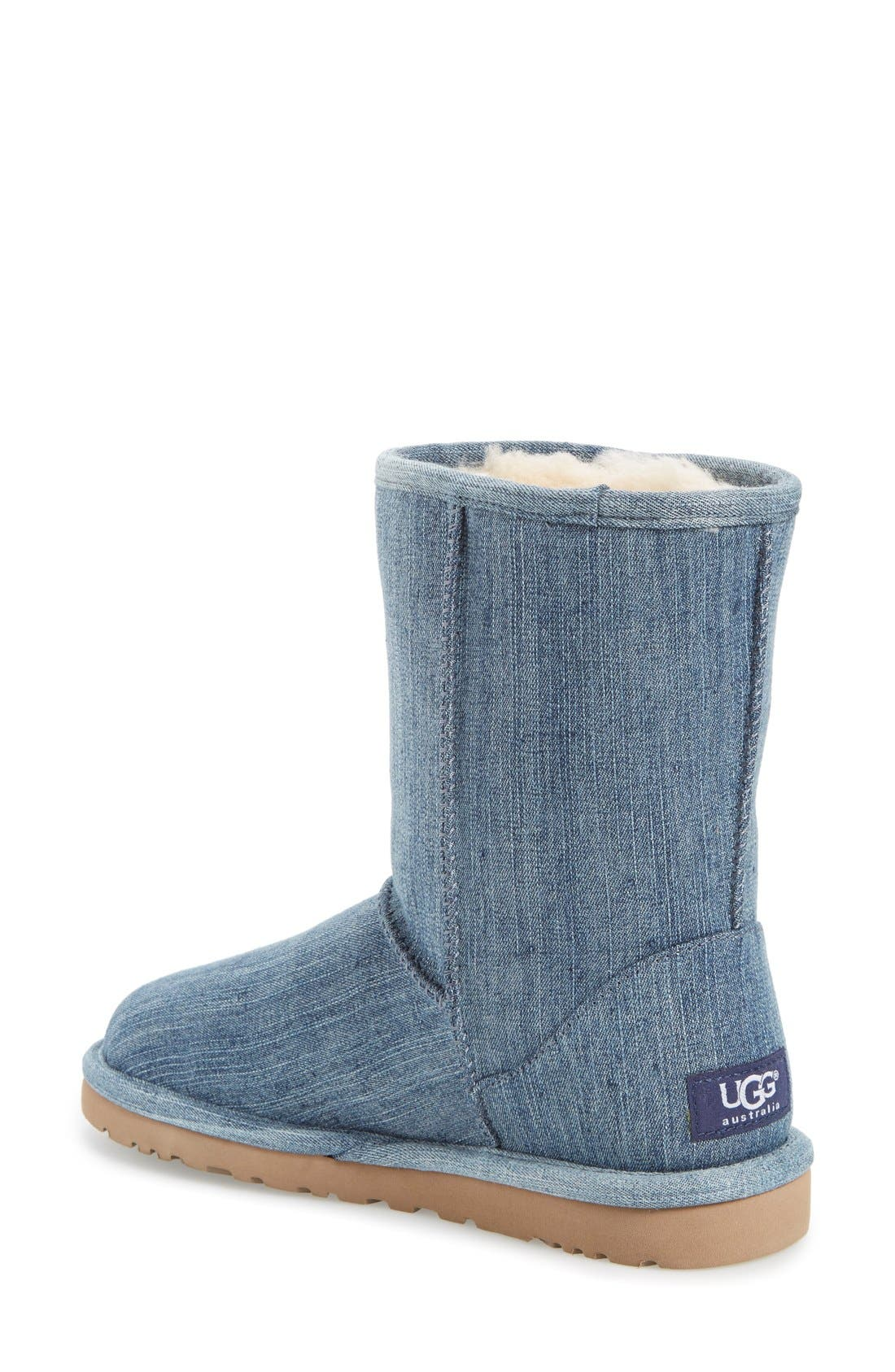 Alternate Image 2  - UGG® 'Classic Short' Denim Boot (Women)