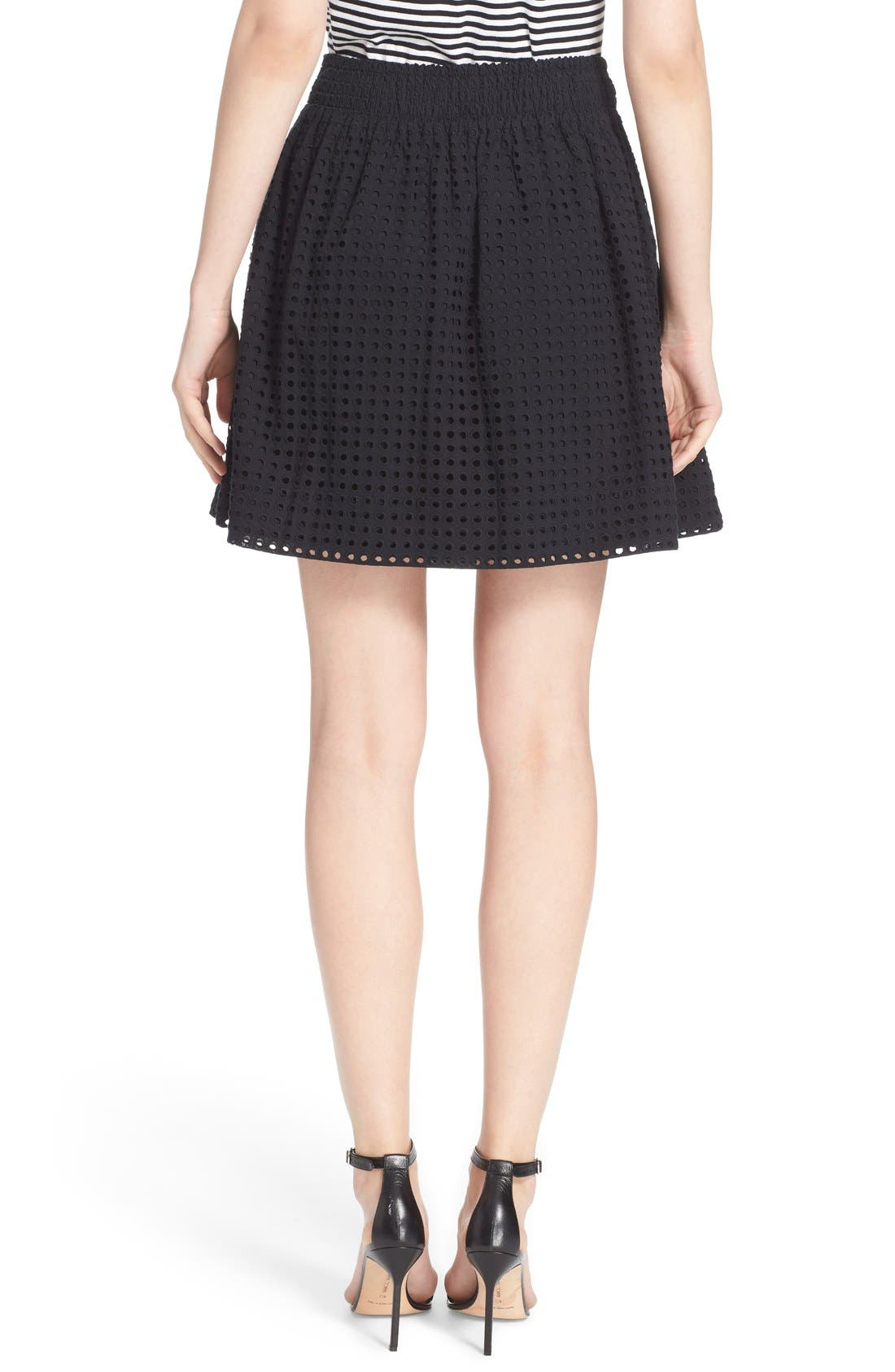 Alternate Image 2  - kate spade new york 'blaire' eyelet miniskirt