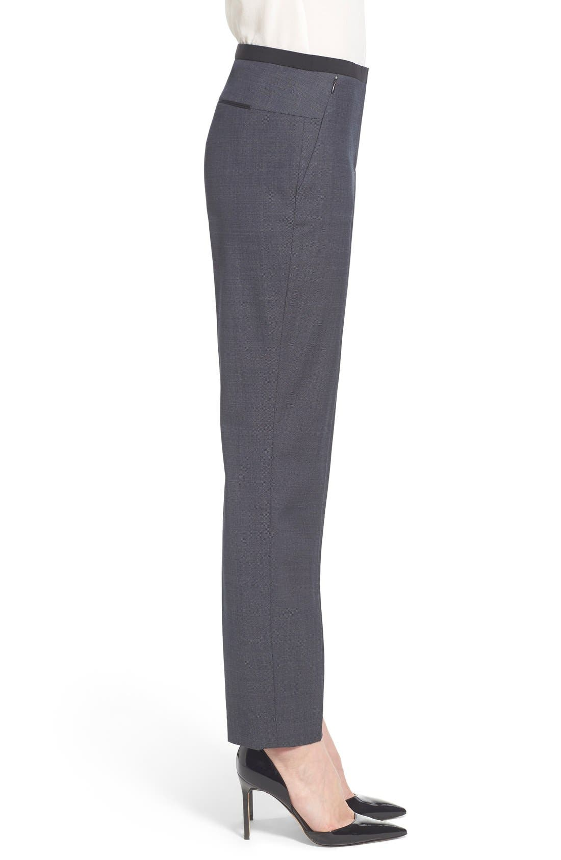 Alternate Image 4  - Elie Tahari 'Jillian' Slim Fit Stretch Woven Pants