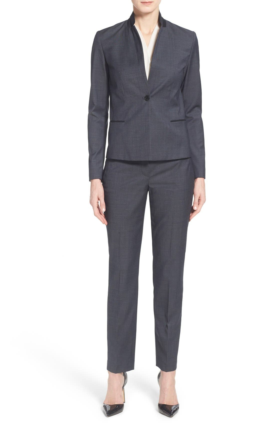 Alternate Image 2  - Elie Tahari 'Jillian' Slim Fit Stretch Woven Pants
