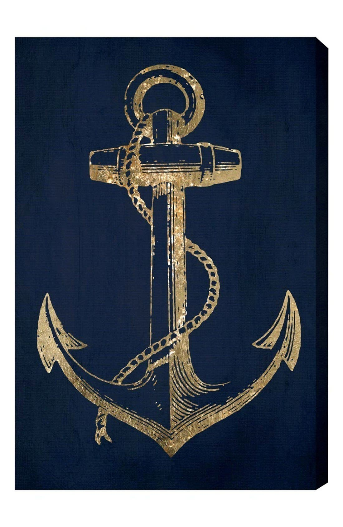 OLIVER GAL 'Gold Anchor' Canvas Wall Art