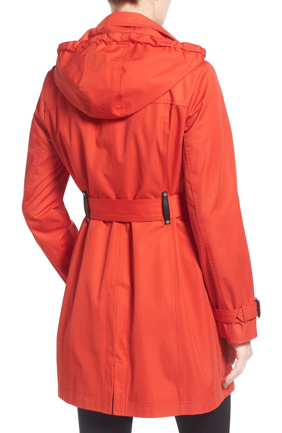 Alternate Image 2  - MICHAEL Michael Kors Single Breasted Raincoat (Regular & Petite)