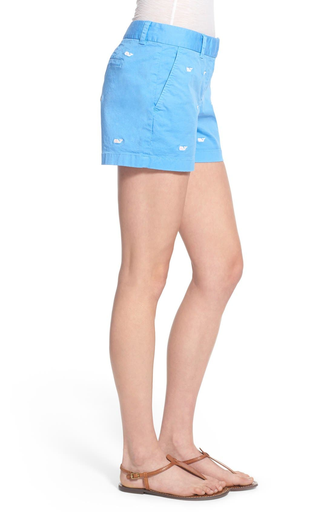 Alternate Image 3  - Vineyard Vines 'Dayboat' Whale Embroidered Stretch Cotton Shorts