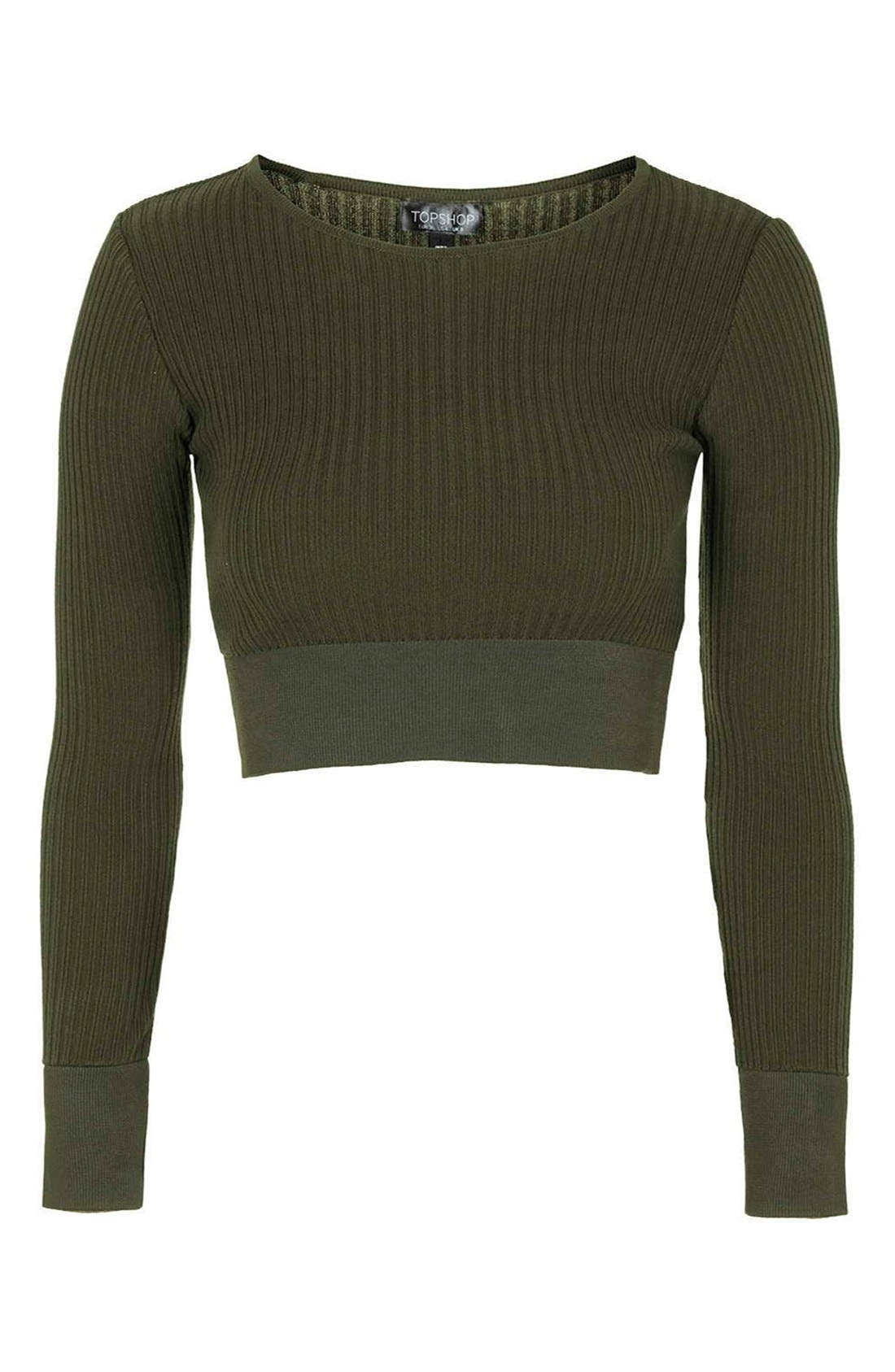 Alternate Image 4  - Topshop Ribbed Crop Top