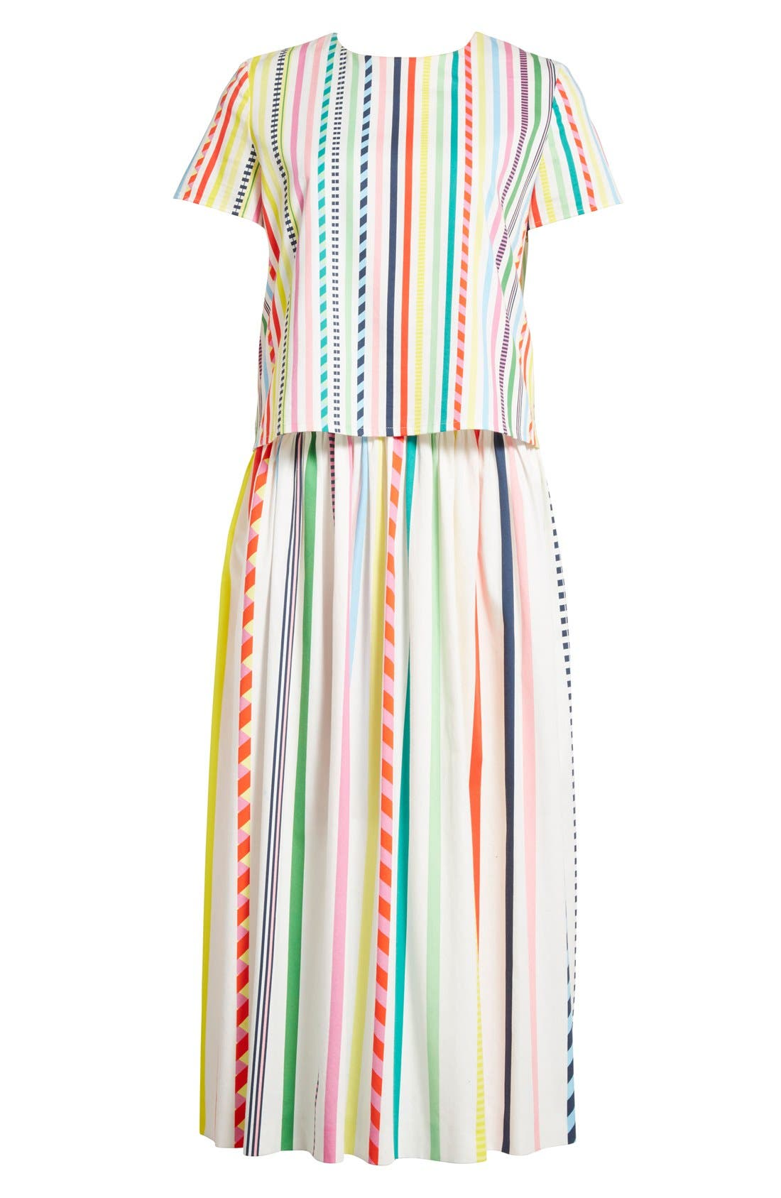Alternate Image 4  - Mira Mikati Candy Stripe Print Popover Dress
