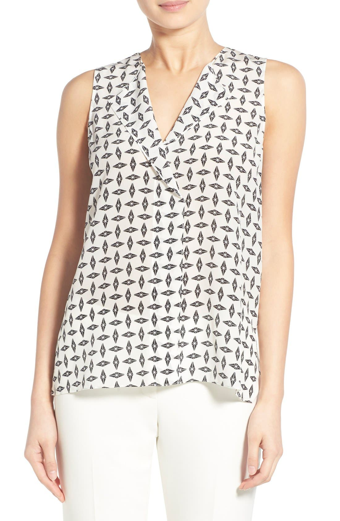 Main Image - Trouvé V-Neck Sleeveless Silk Top