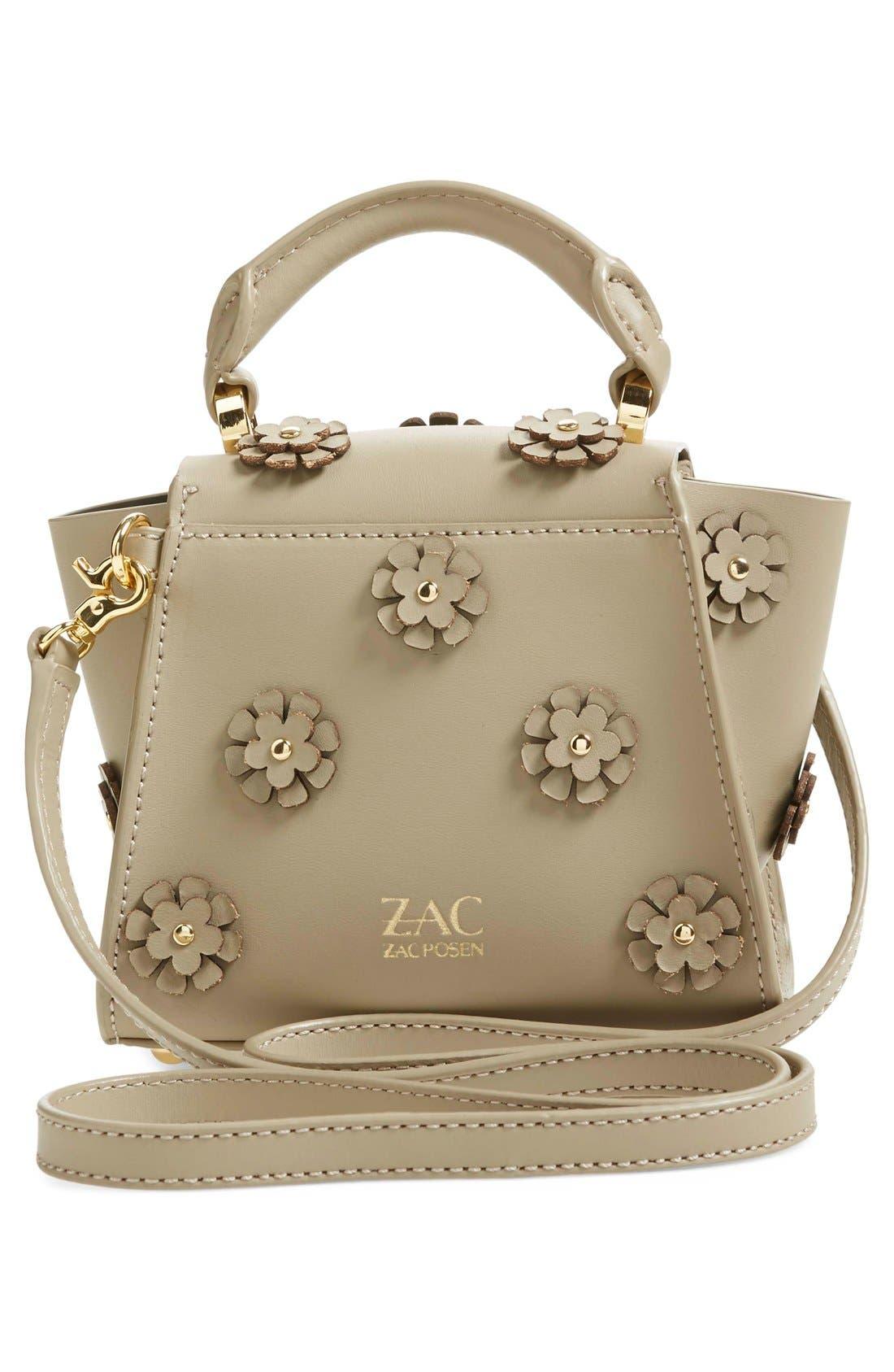 Alternate Image 3  - ZAC Zac Posen 'Mini Eartha' Embellished Leather Top Handle Satchel