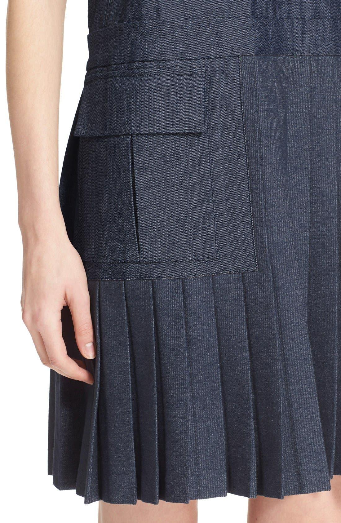 Alternate Image 4  - MSGM Pleat Bottom Sleeveless Shift Dress