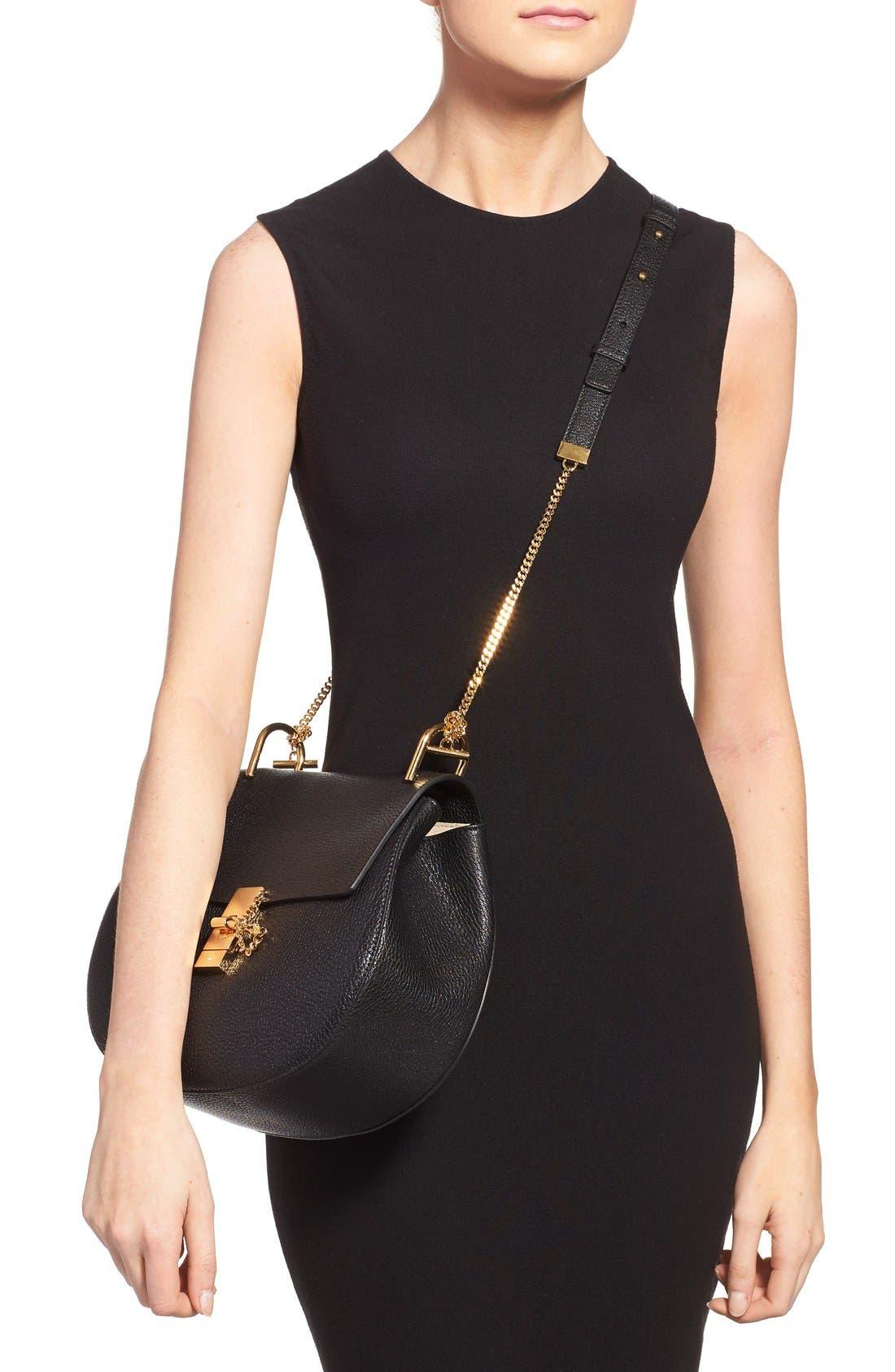 Alternate Image 2  - Chloé 'Drew' Lambskin Leather Shoulder Bag