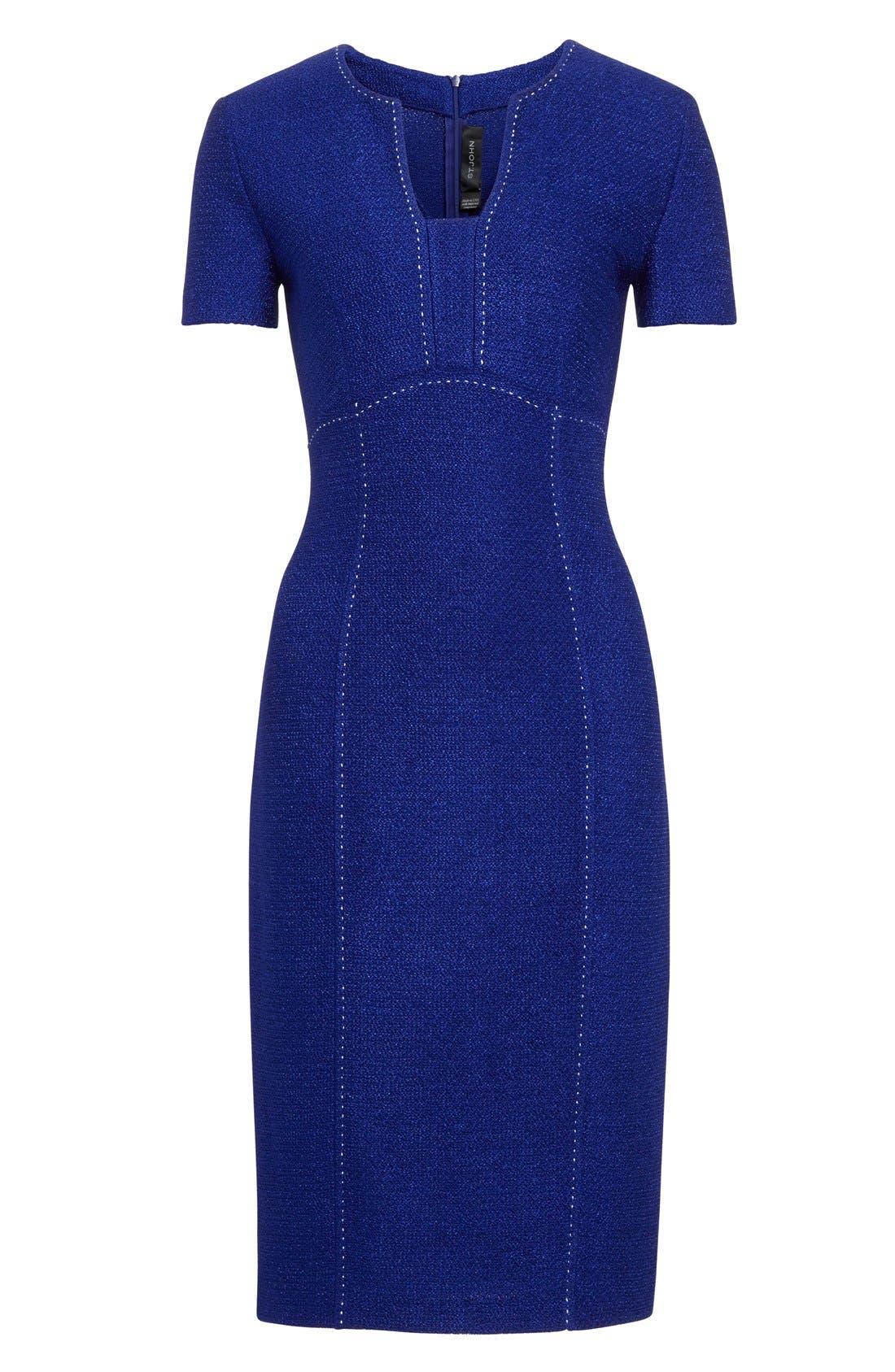 Alternate Image 4  - St. John Collection 'Newport' Knit Sheath Dress