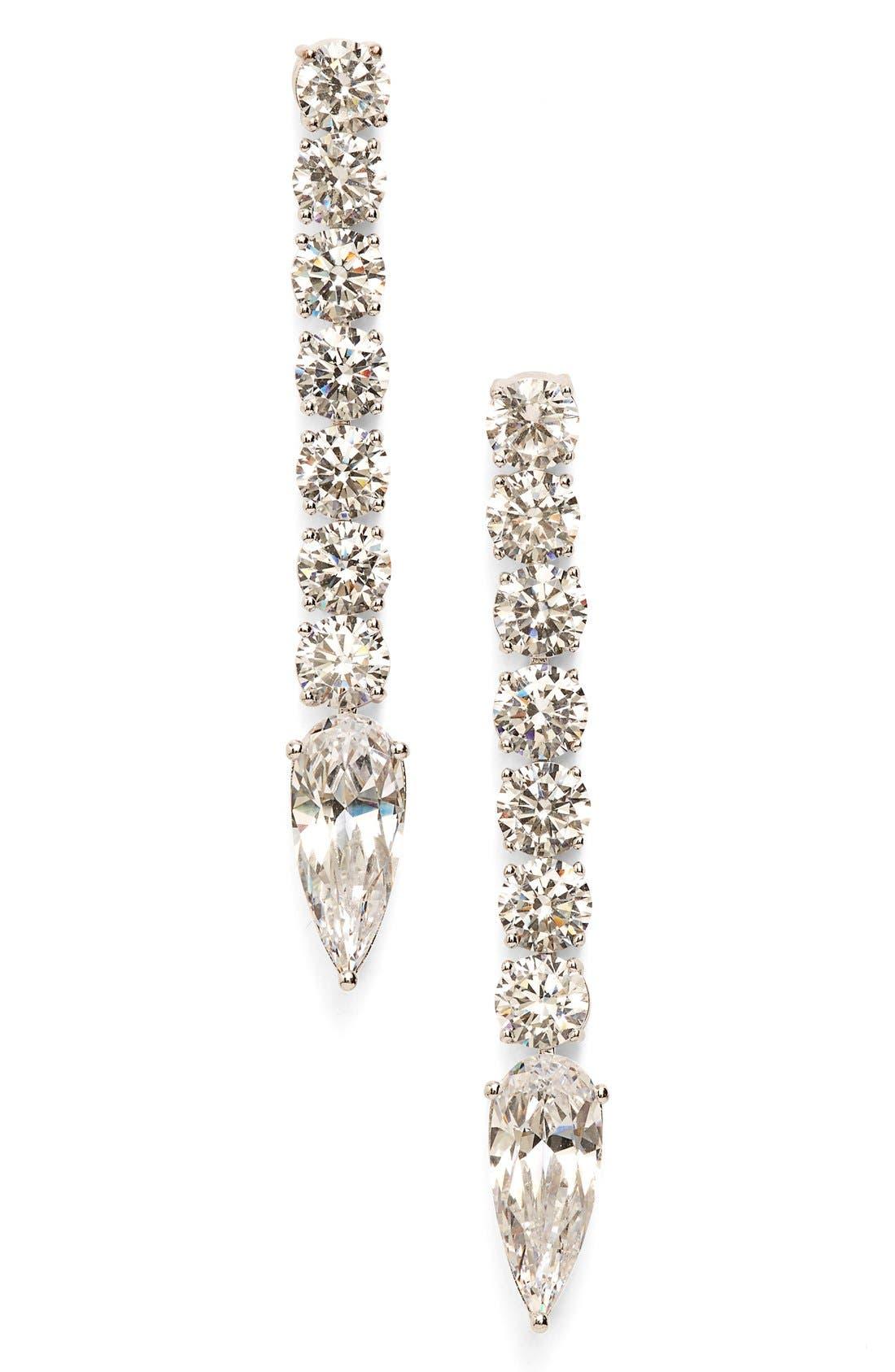 Alternate Image 1 Selected - Nadri Crystal Linear Drop Earrings