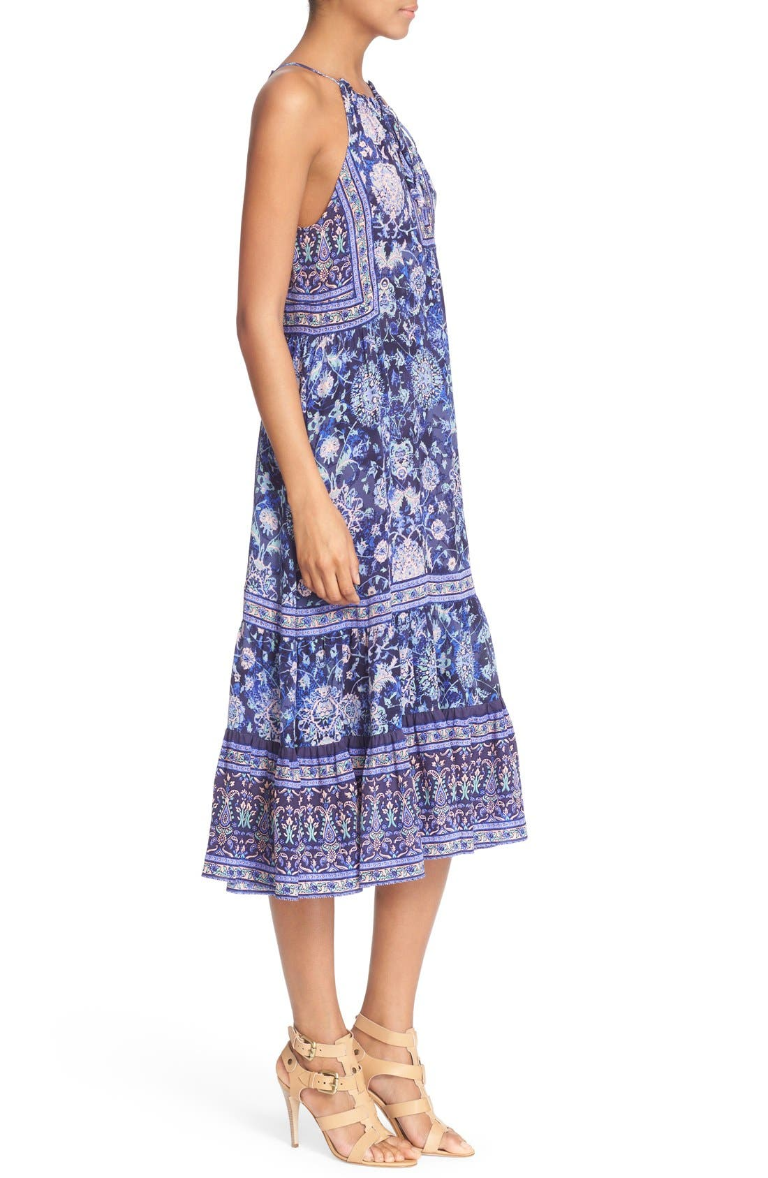 Alternate Image 3  - Rebecca Taylor 'Dreamweaver' Print Silk Midi Dress