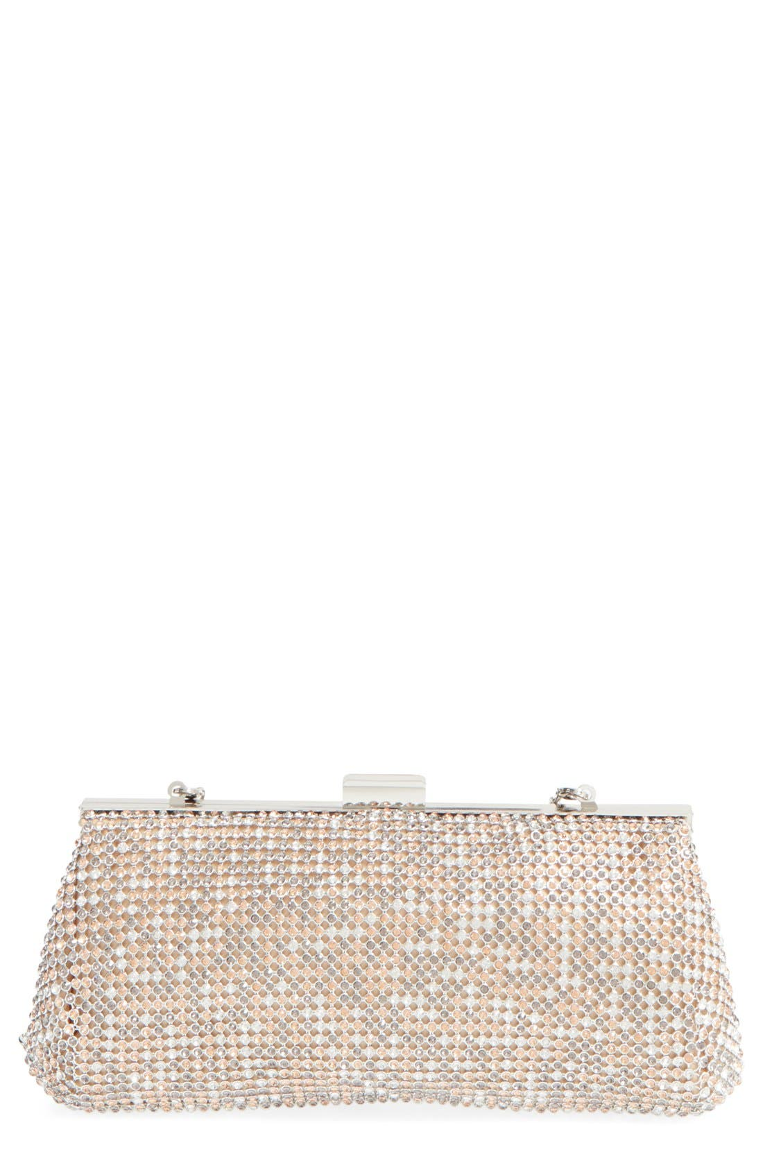 Alternate Image 1 Selected - Glint Crystal Mesh Clutch