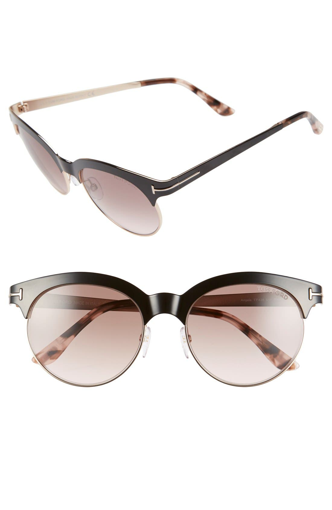 Main Image - Tom Ford 'Angela' 53mm Retro Sunglasses