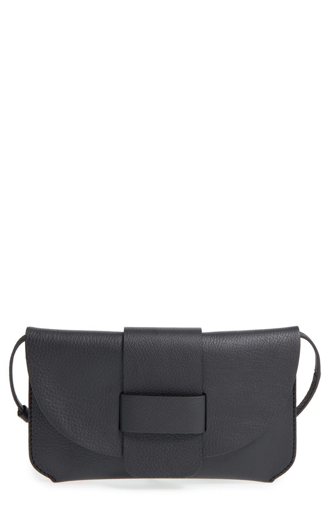 Pedro Garcia Leather Flap Clutch