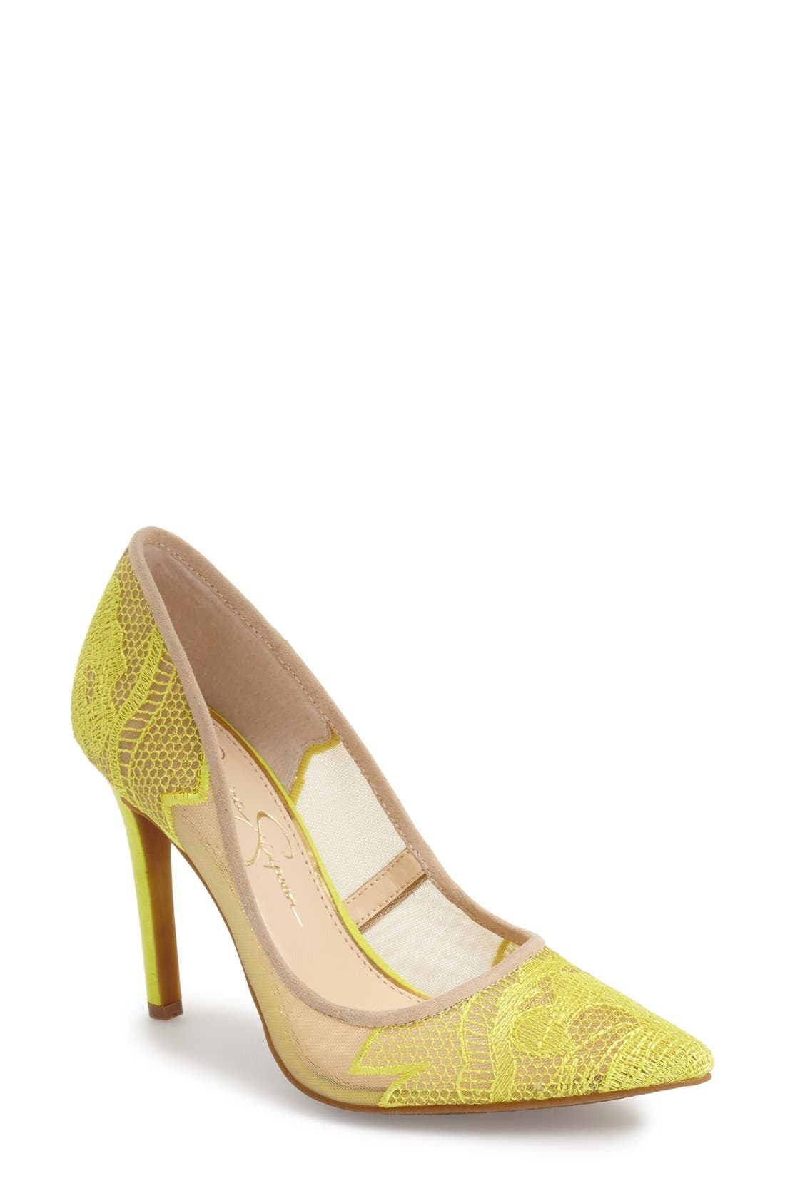 Alternate Image 1 Selected - Jessica Simpson 'Camba' Pointy Toe Pump (Women)