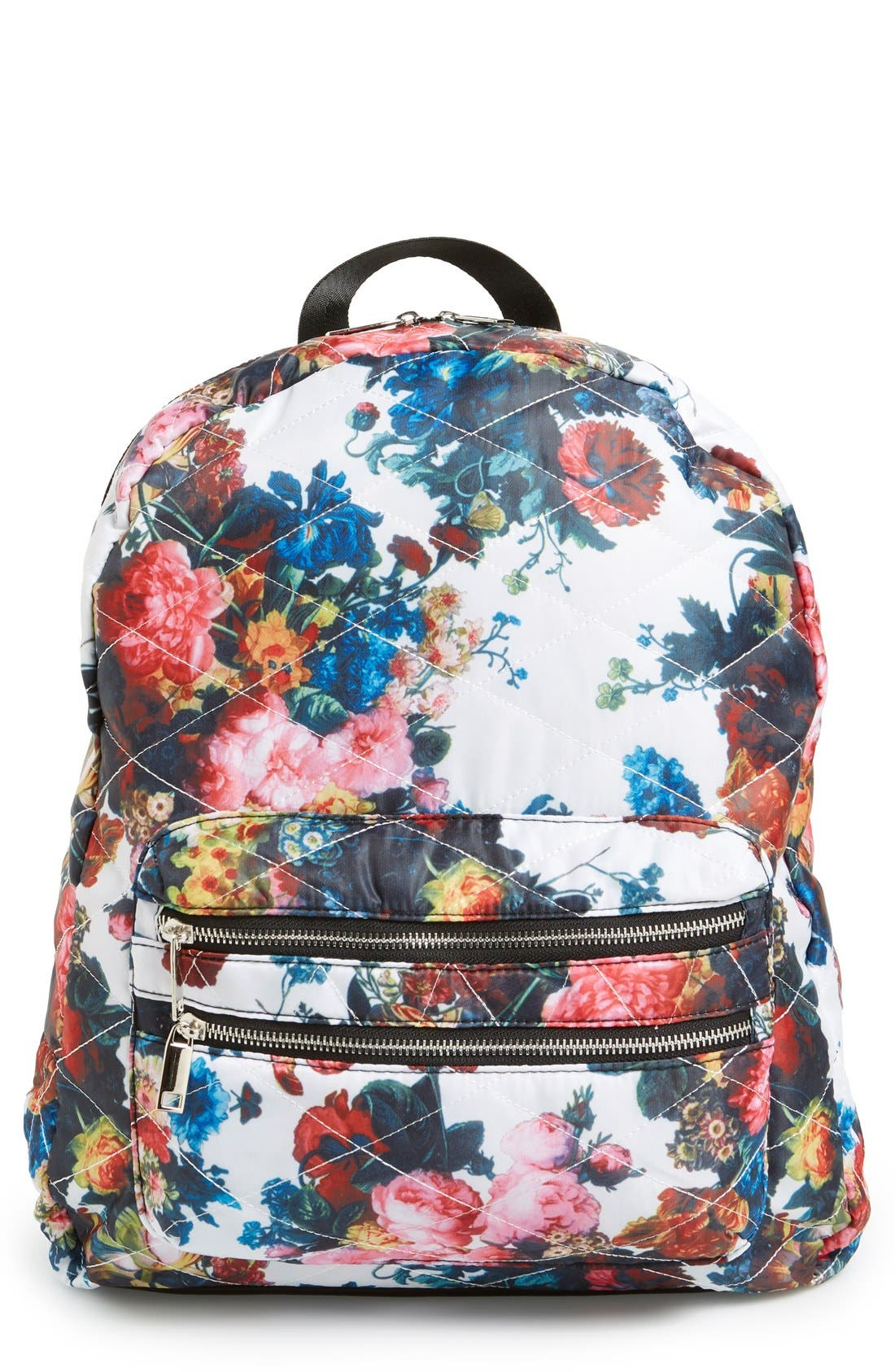 Alternate Image 1 Selected - Dolce Girl 'Dome' Floral Print Quilted Backpack