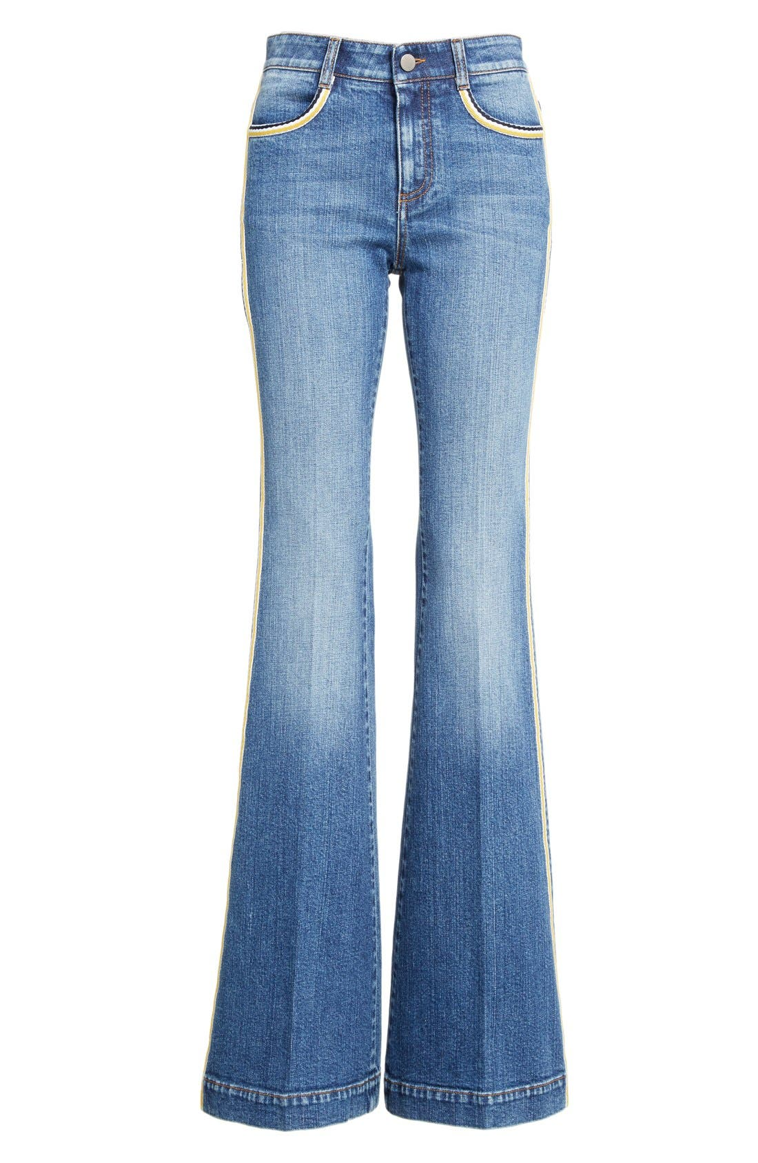 Alternate Image 4  - Stella McCartney '70s Flare' Jeans (Classic Blue)