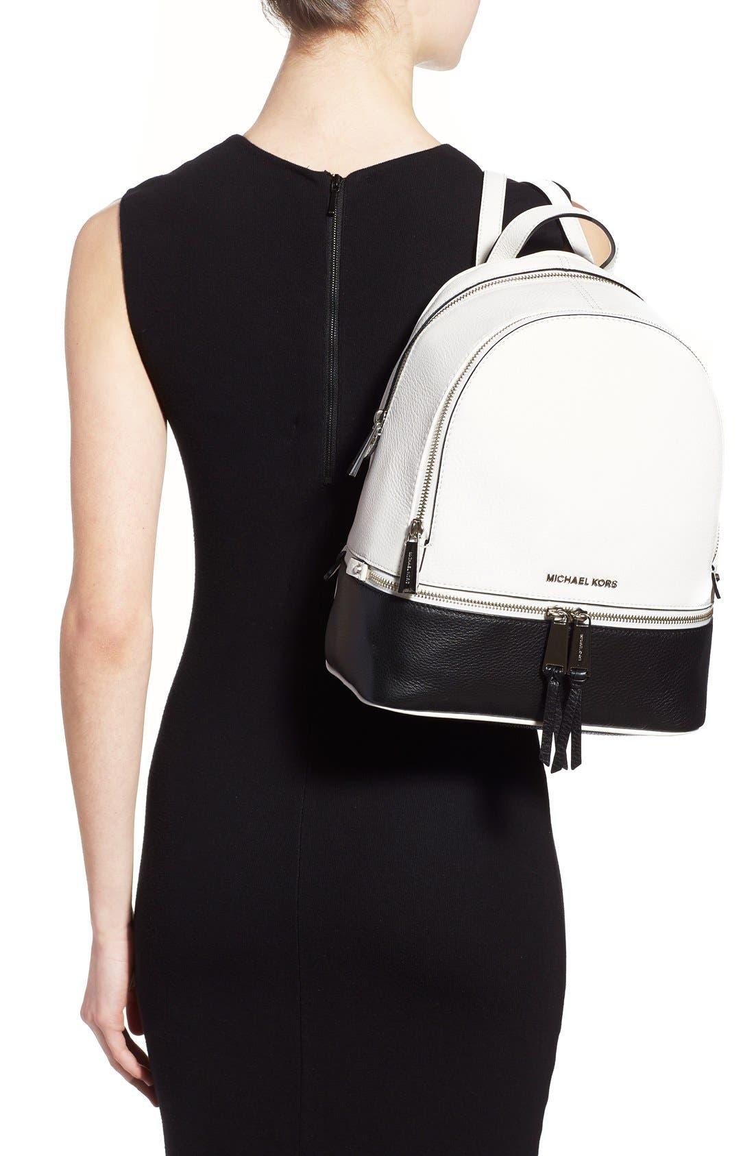Alternate Image 2  - MICHAEL Michael Kors 'Small Rhea' Leather Backpack