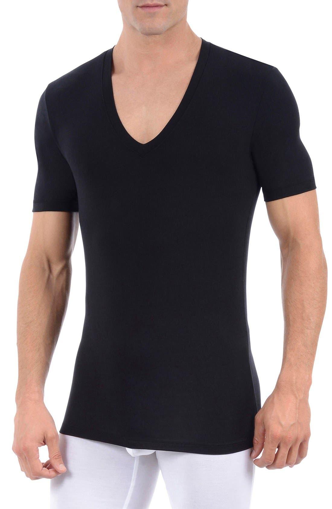 Alternate Image 1 Selected - Tommy John 'Second Skin' Deep V-Neck Undershirt