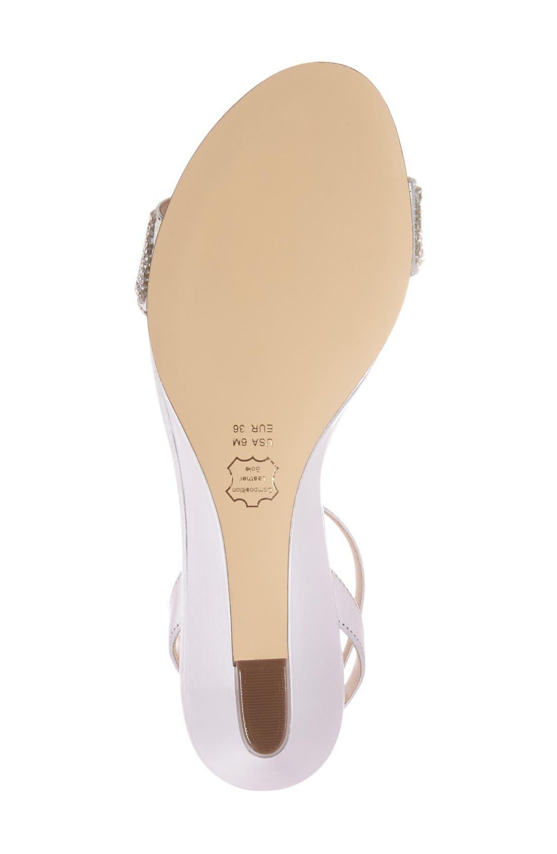 Alternate Image 4  - Nina 'Novia' Embellished Wedge Sandal (Women)