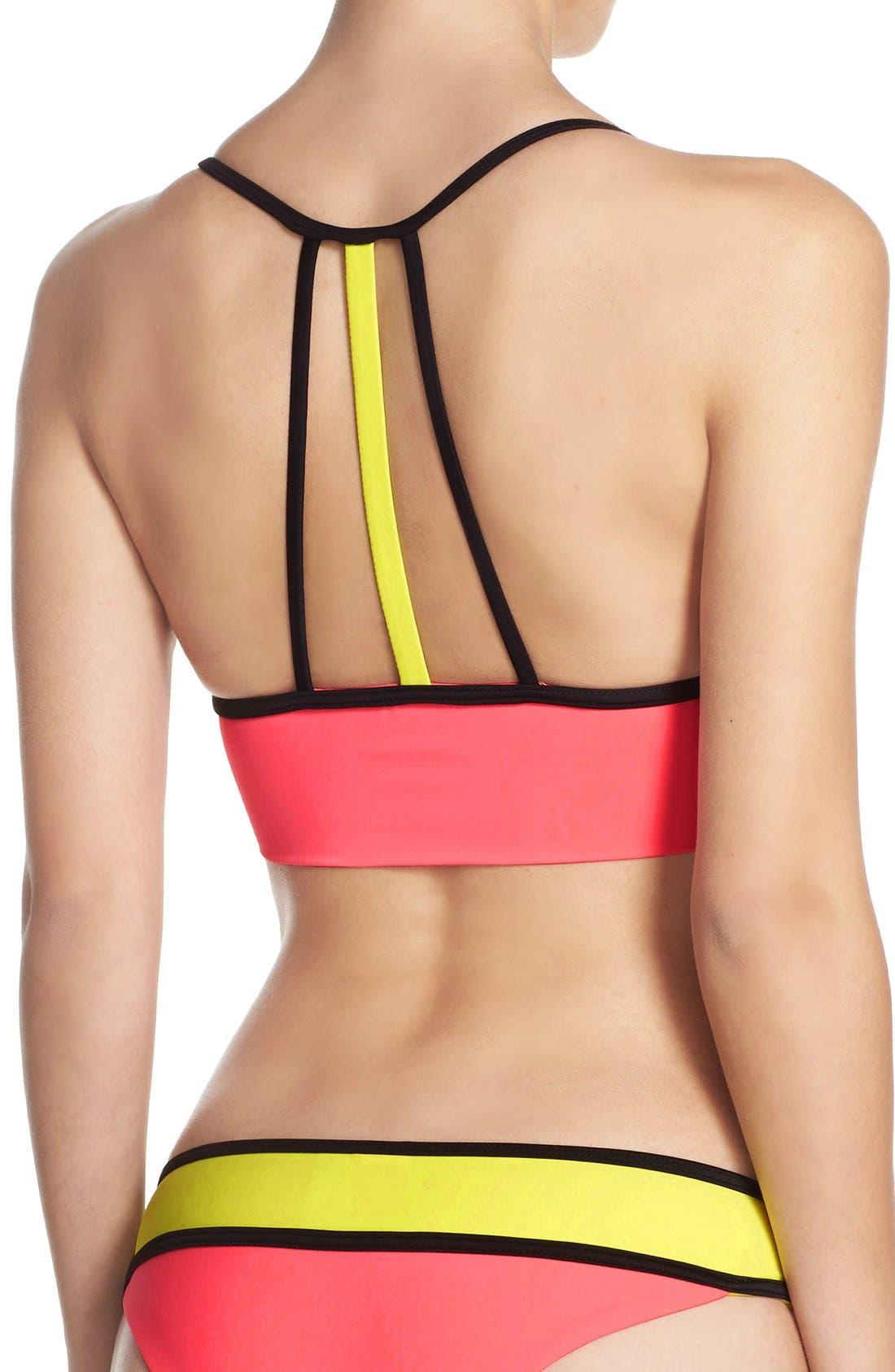 Alternate Image 2  - BCA Colorblock Longline Bikini Top