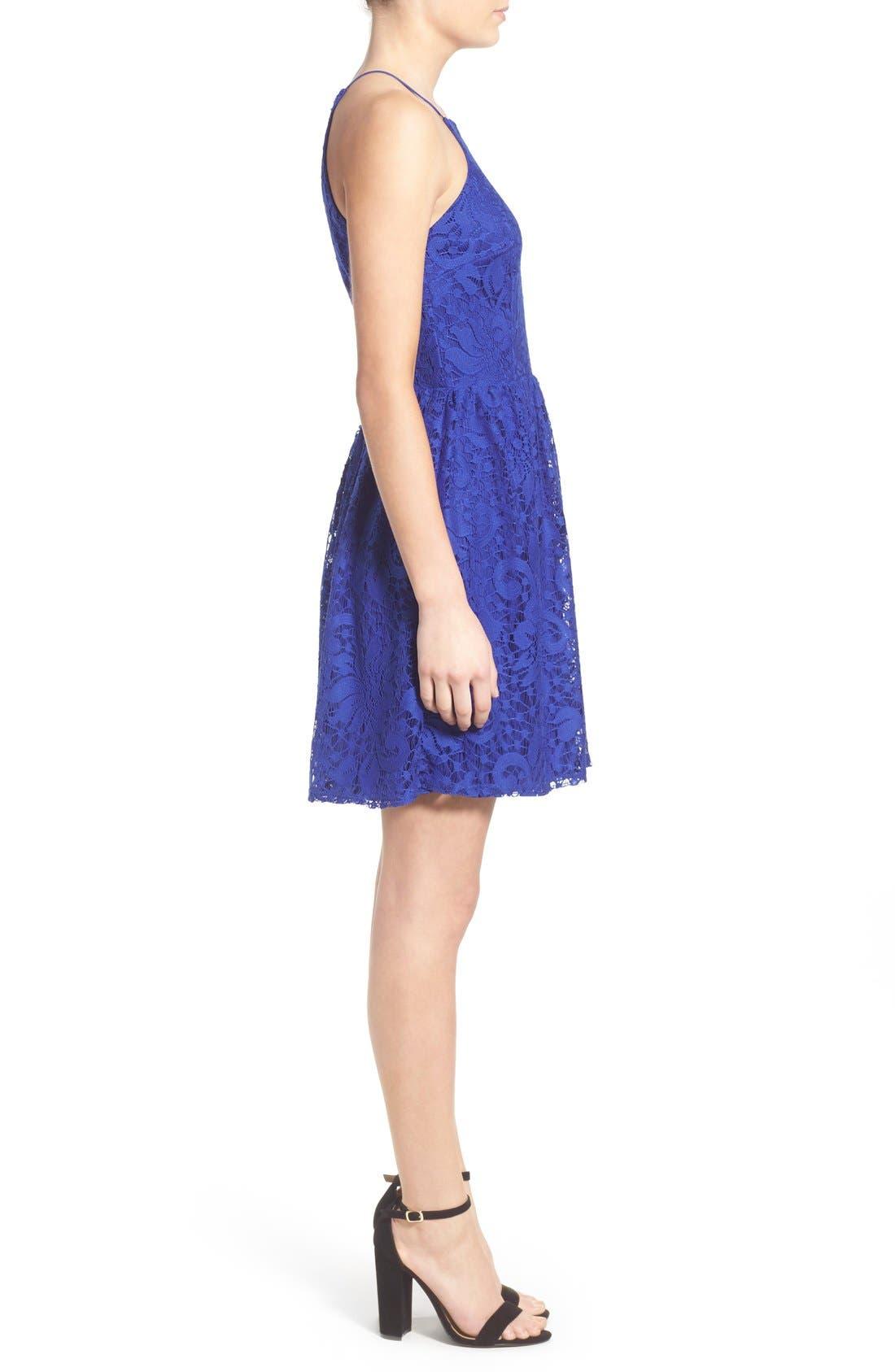 Alternate Image 3  - Speechless Lace High Neck Skater Dress