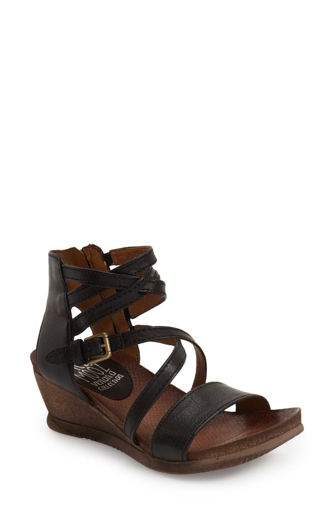 Miz Mooz 'Shay' Wedge Sandal (Women)