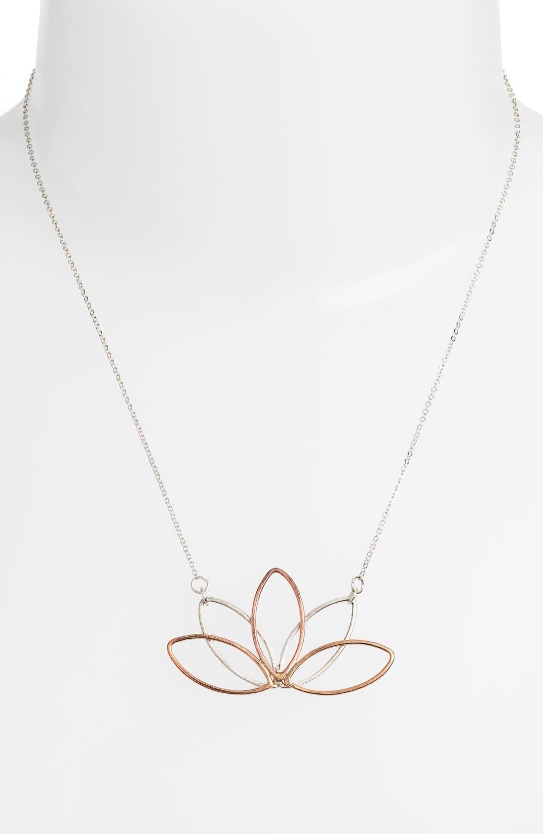 Alternate Image 2  - Nashelle Lotus Pendant Necklace