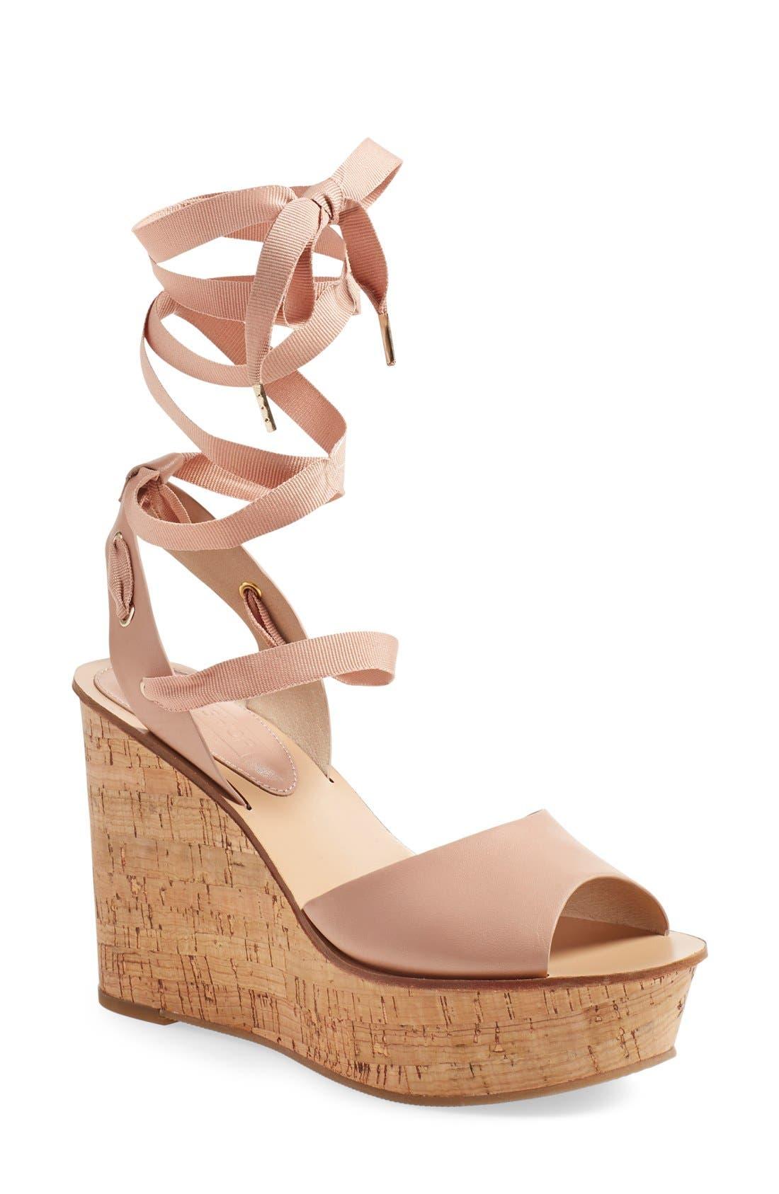 Alternate Image 1 Selected - Topshop 'Wise' Platform Wedge Sandal (Women)