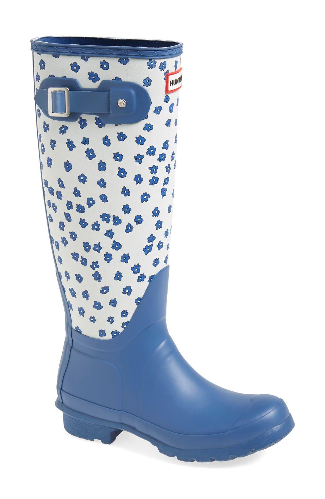 Main Image - Hunter 'Original Tall - Festival Floral' Rain Boot (Women)