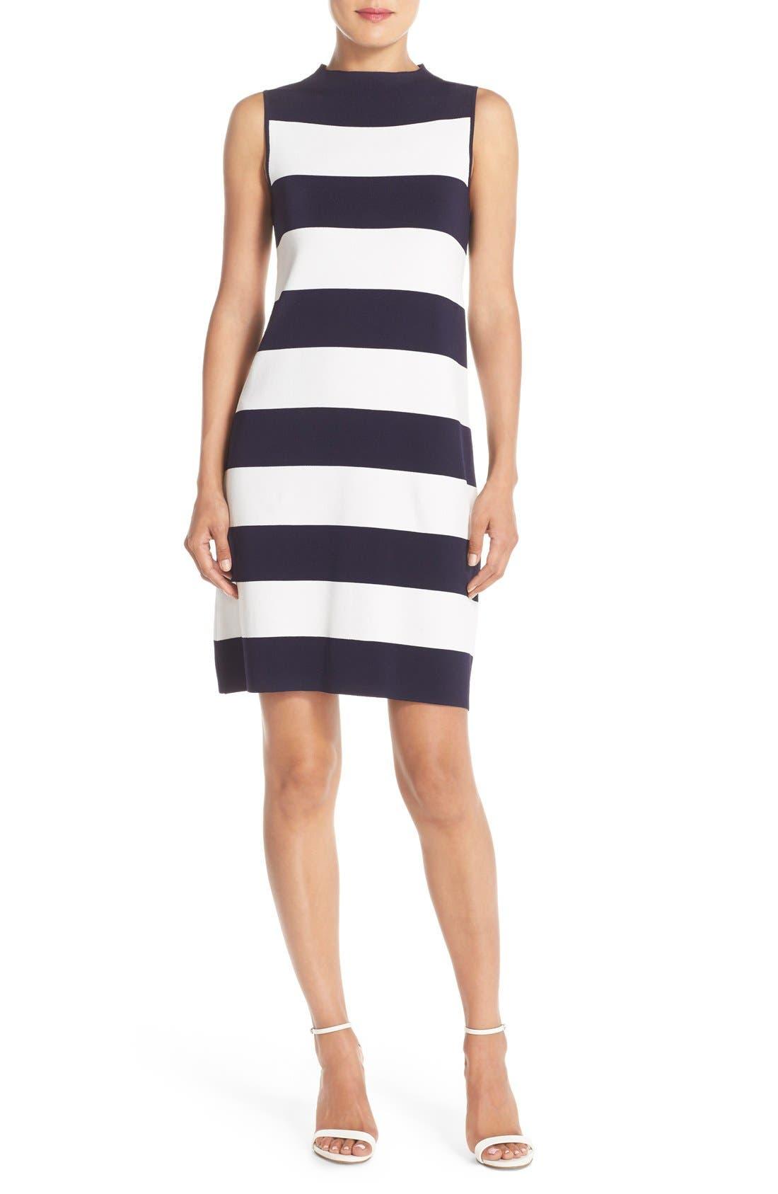 ELIZA J Stripe Shift Sweater Dress