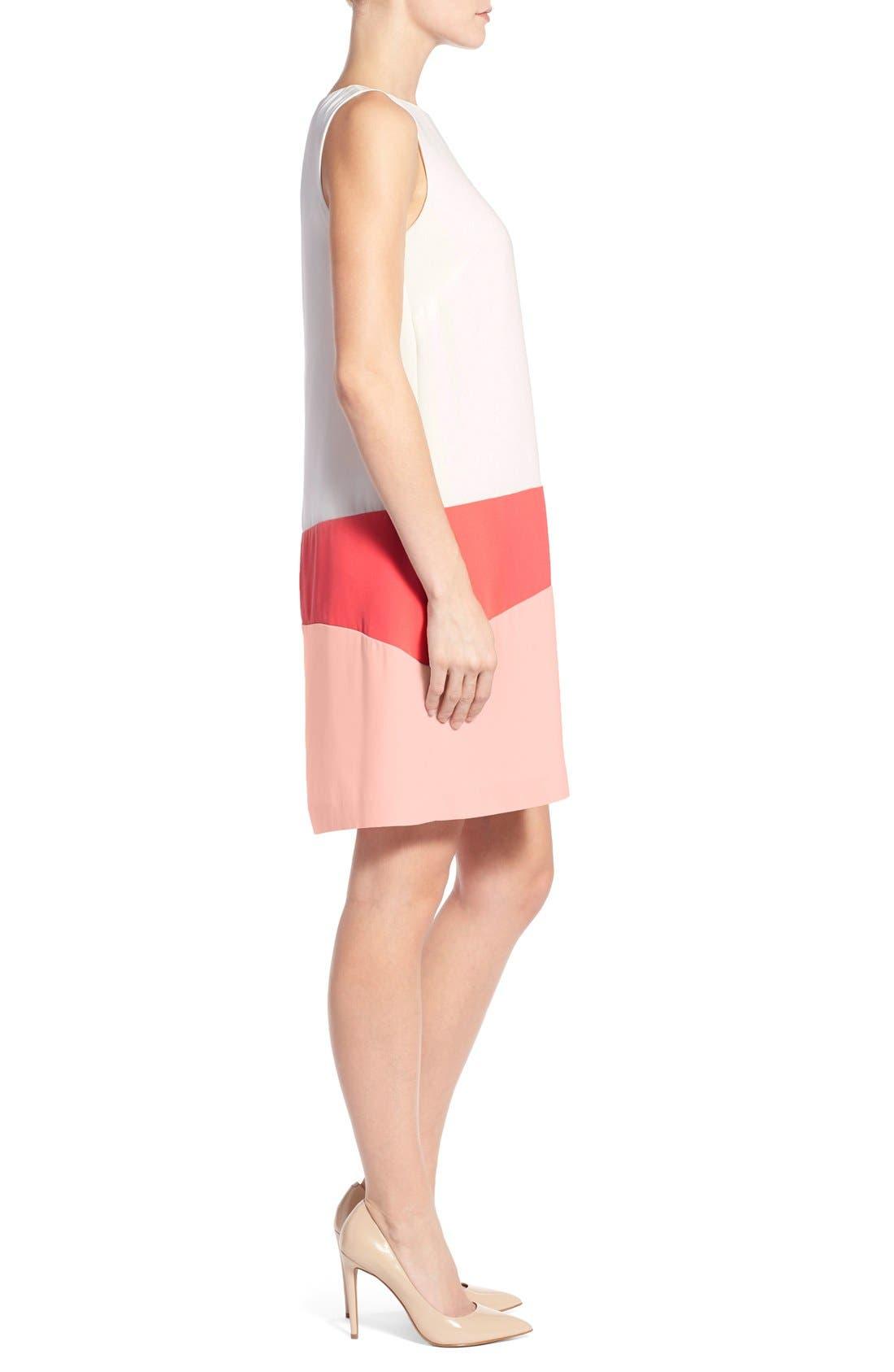 Alternate Image 3  - Halogen® Colorblock Shift Dress (Regular & Petite)