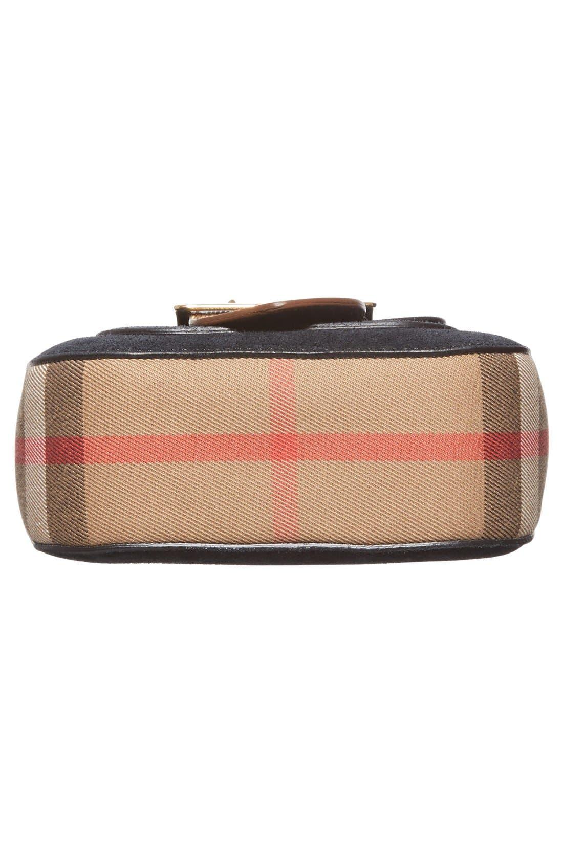 Alternate Image 6  - Burberry Suede & Canvas Convertible Crossbody Bag
