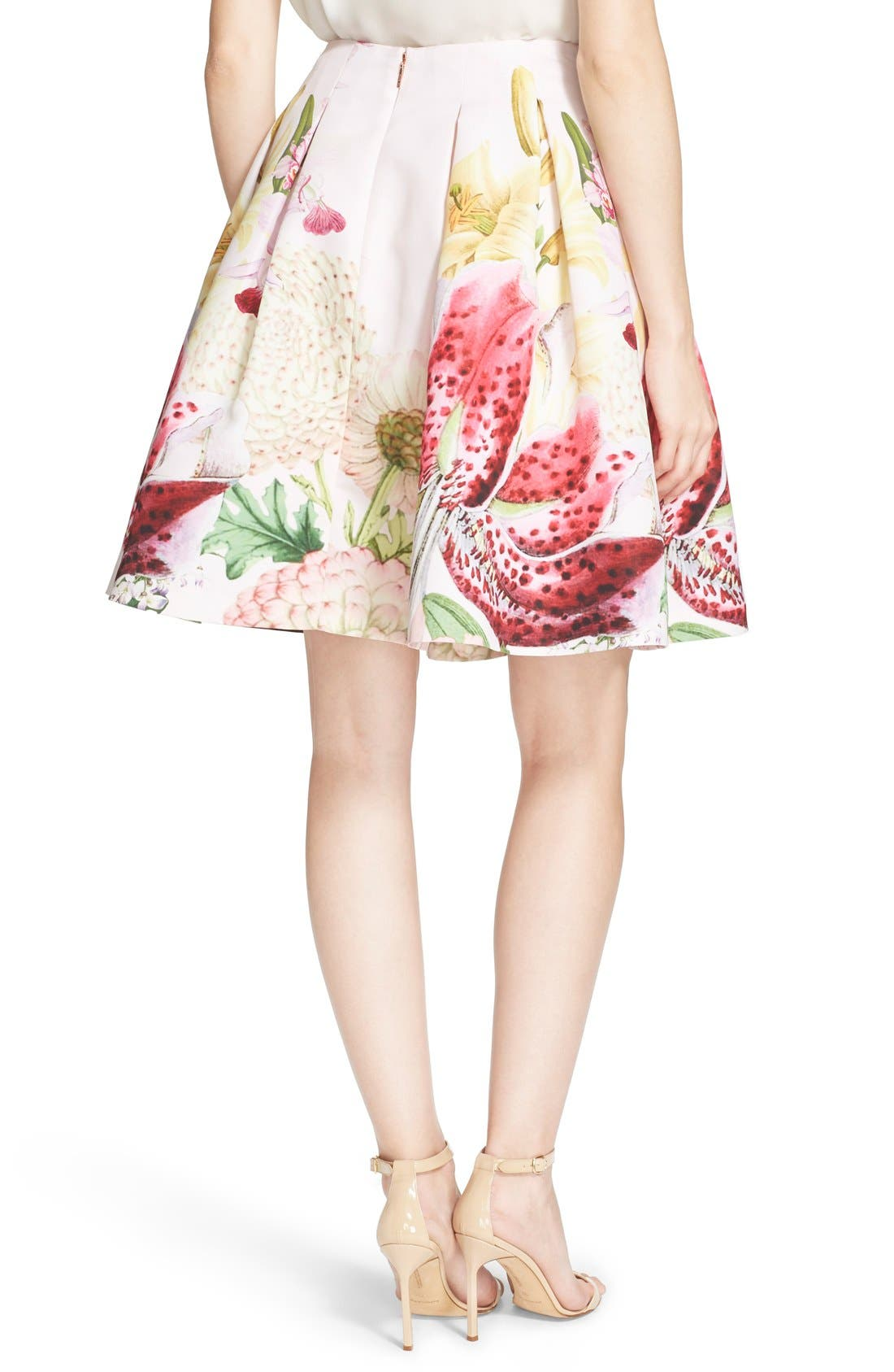 Alternate Image 2  - Ted Baker London 'Rowahn' Floral Print Full Skirt