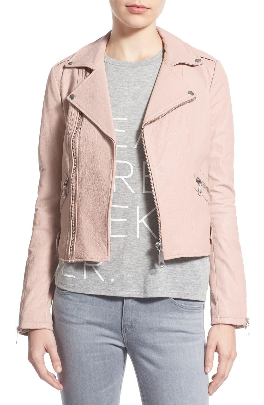 Alternate Image 1 Selected - Rebecca Minkoff Pebble Leather Jacket