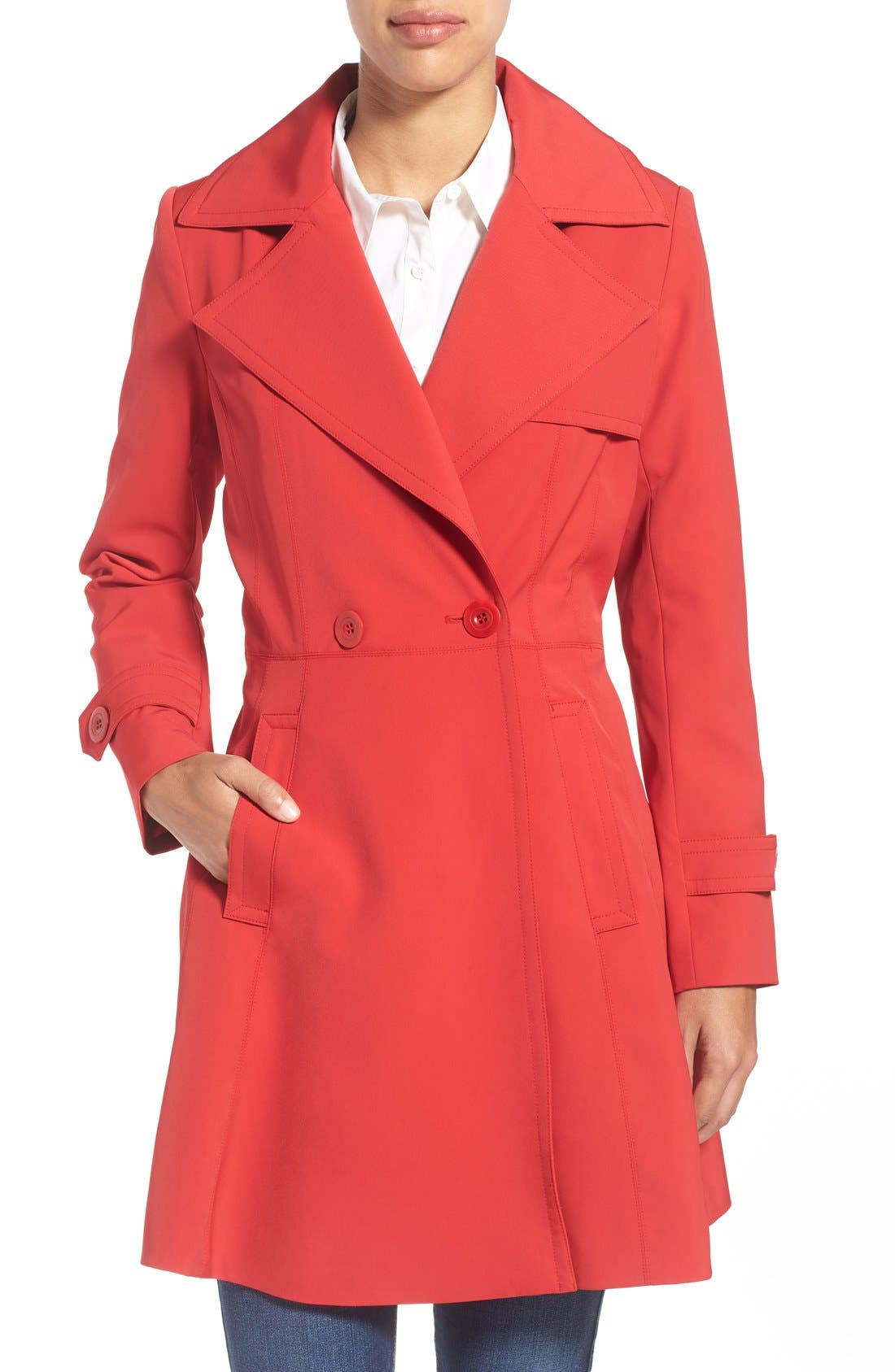 Trina Turk 'Phoebe' Double Breasted Trench Coat (Online Only) (Regular & Petite)
