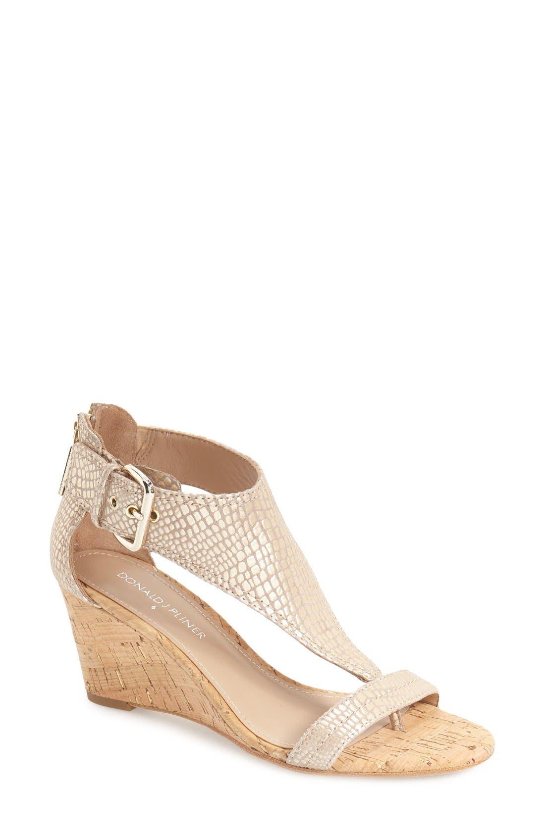 Alternate Image 1 Selected - Donald J Pliner 'June' T-Strap Wedge Sandal (Women)