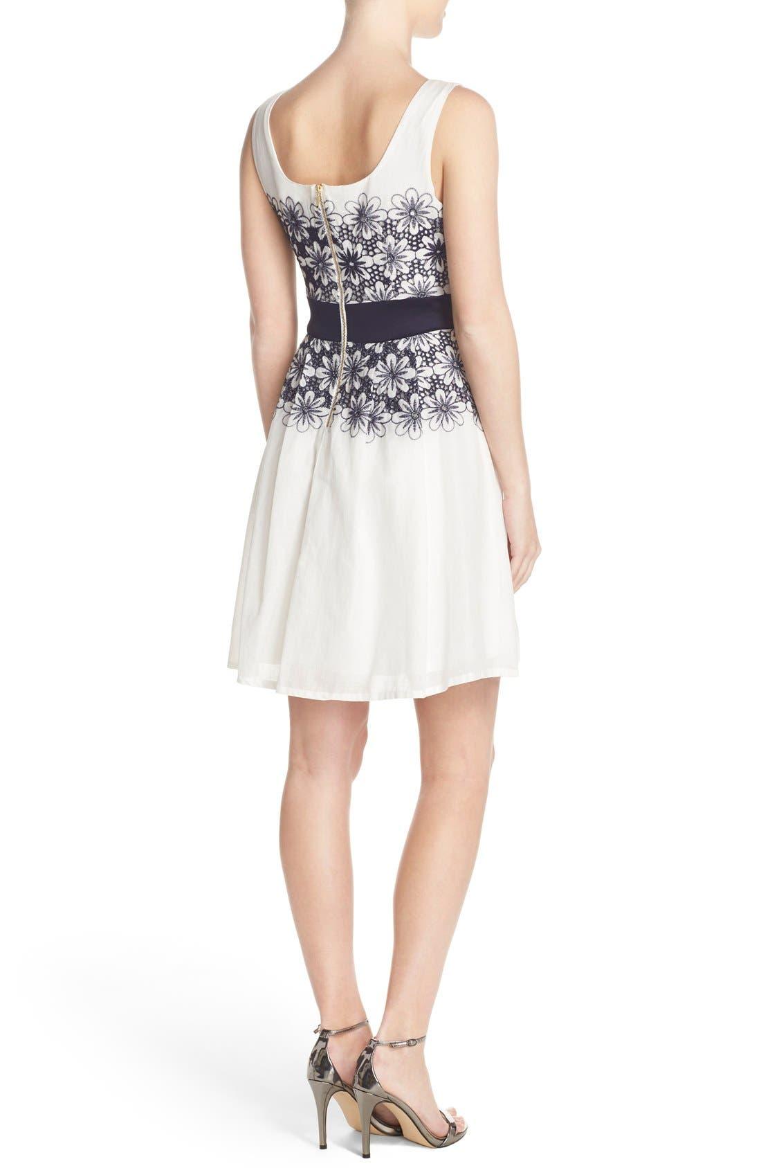 Alternate Image 2  - Taylor Dresses Embroidered Fit & Flare Dress