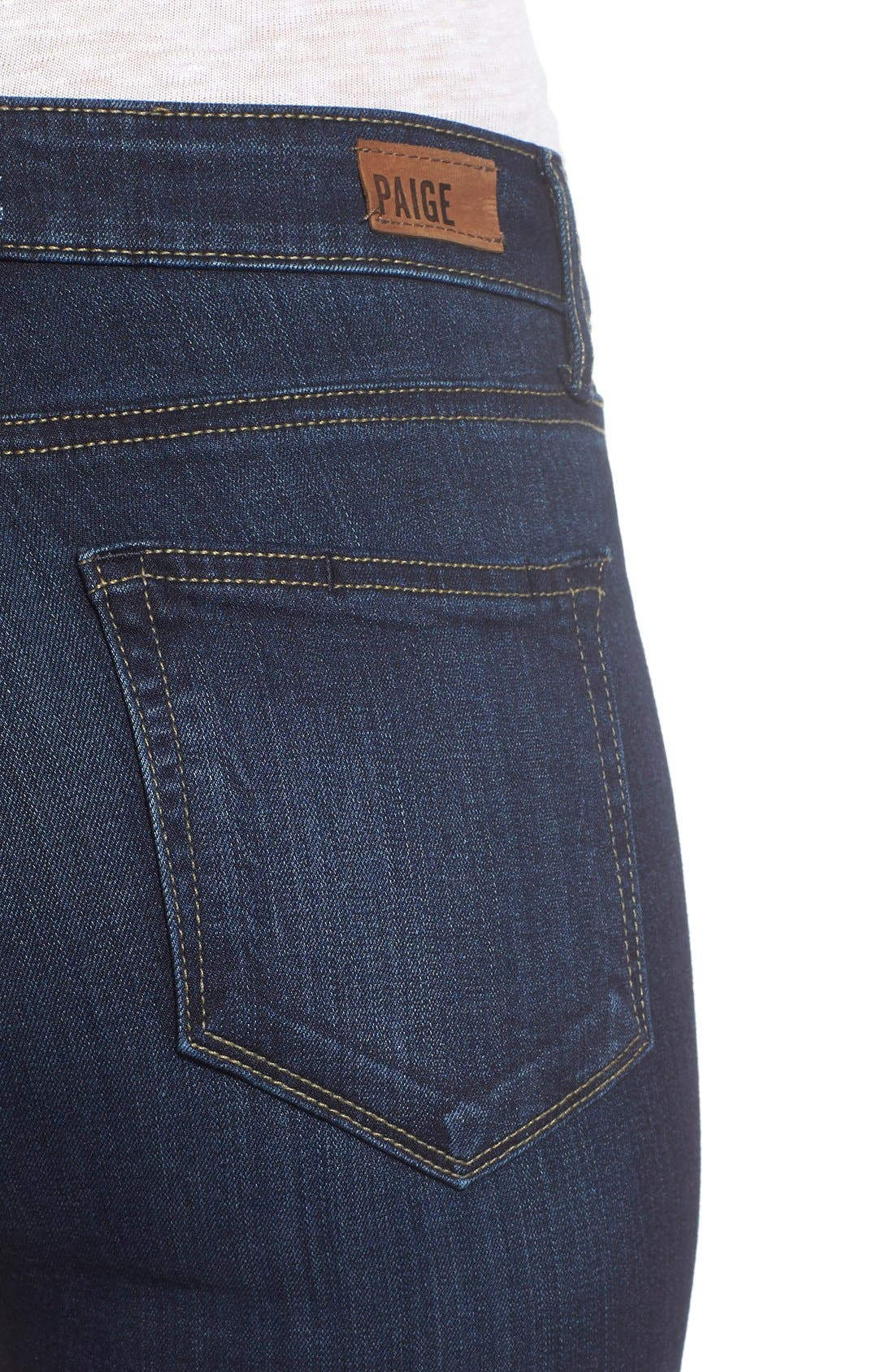 Alternate Image 4  - PAIGE Transcend - Hoxton High Waist Ankle Ultra Skinny Jeans (Hartmann)