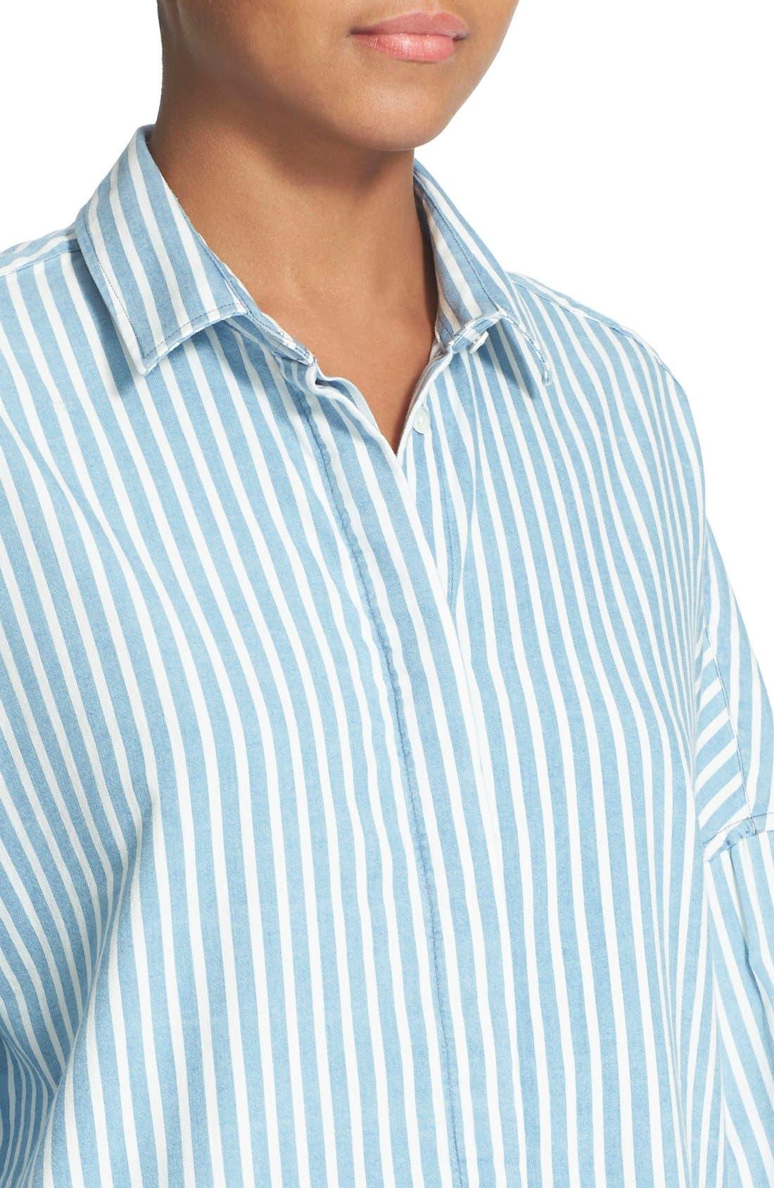 Alternate Image 4  - IRO 'Mia' Stripe Cotton & Modal Shirt