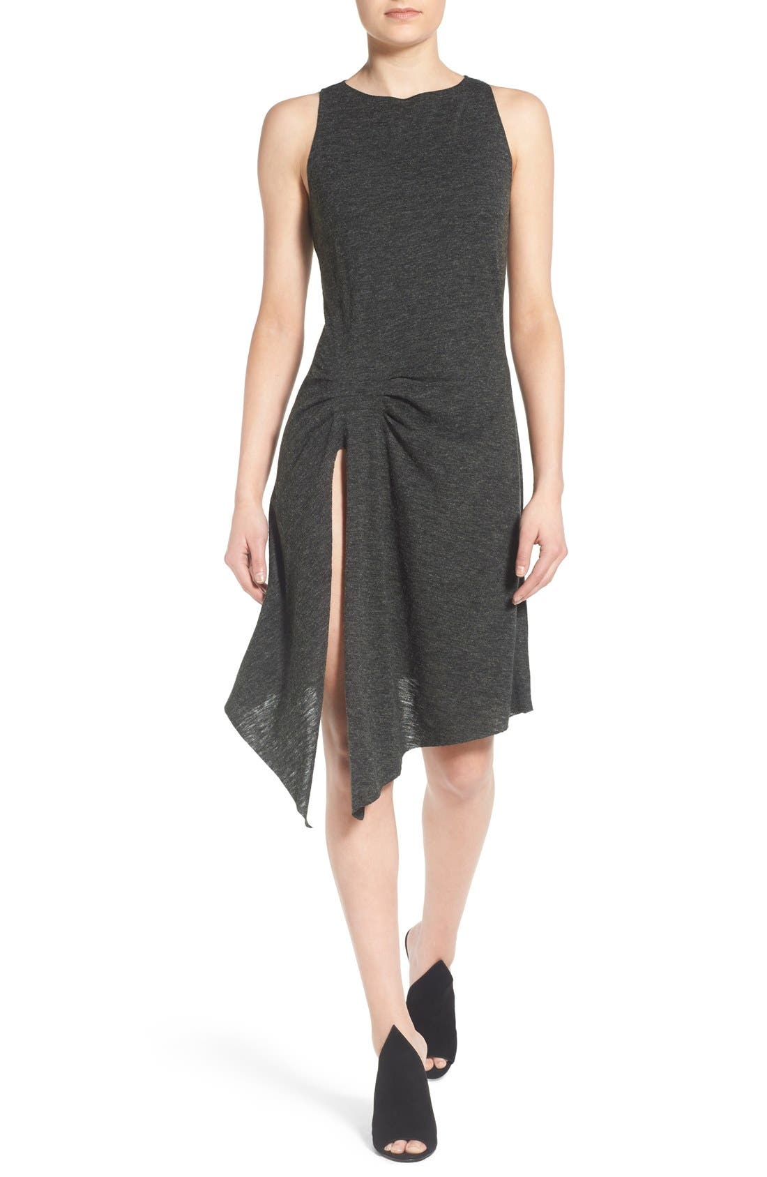 Main Image - KENDALL + KYLIE Raw Edge Jersey Racerback Dress