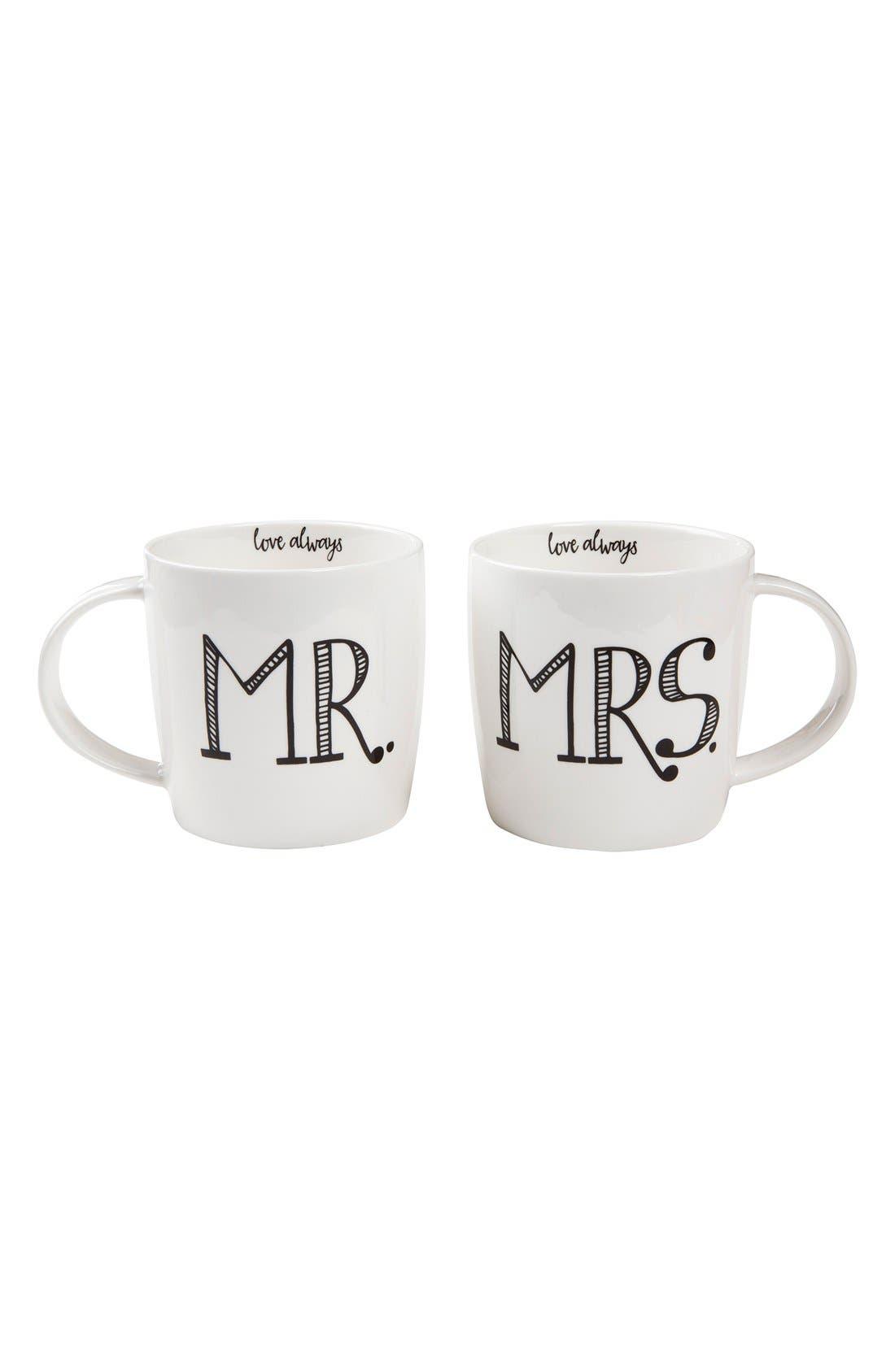 Natural Life 'Mr. & Mrs. - Love Always' Ceramic Mug Set